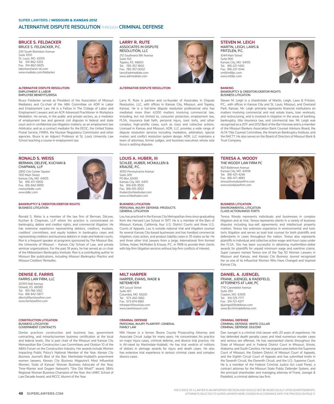 Super Lawyers - Missouri & Kansas 2012 - page 49