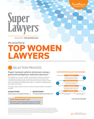 Super Lawyers - The Top Women Attorneys in Michigan 2017 - Front Cover