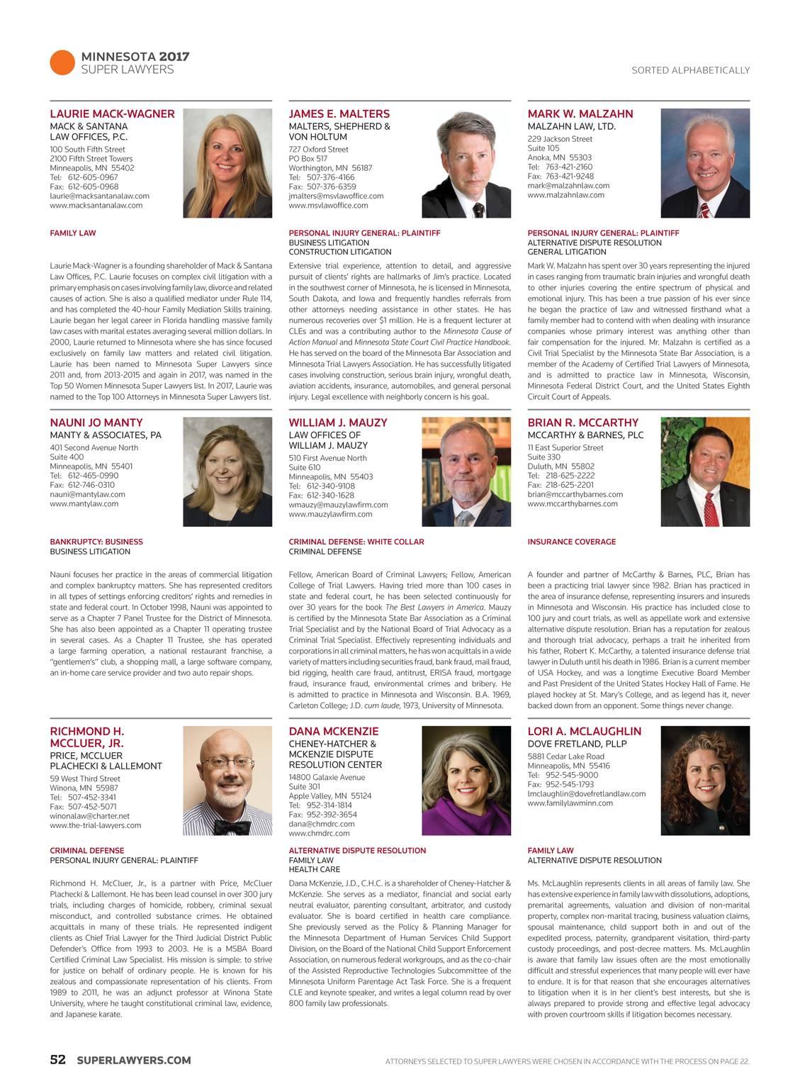 Super Lawyers - Minnesota 2017 - page 52