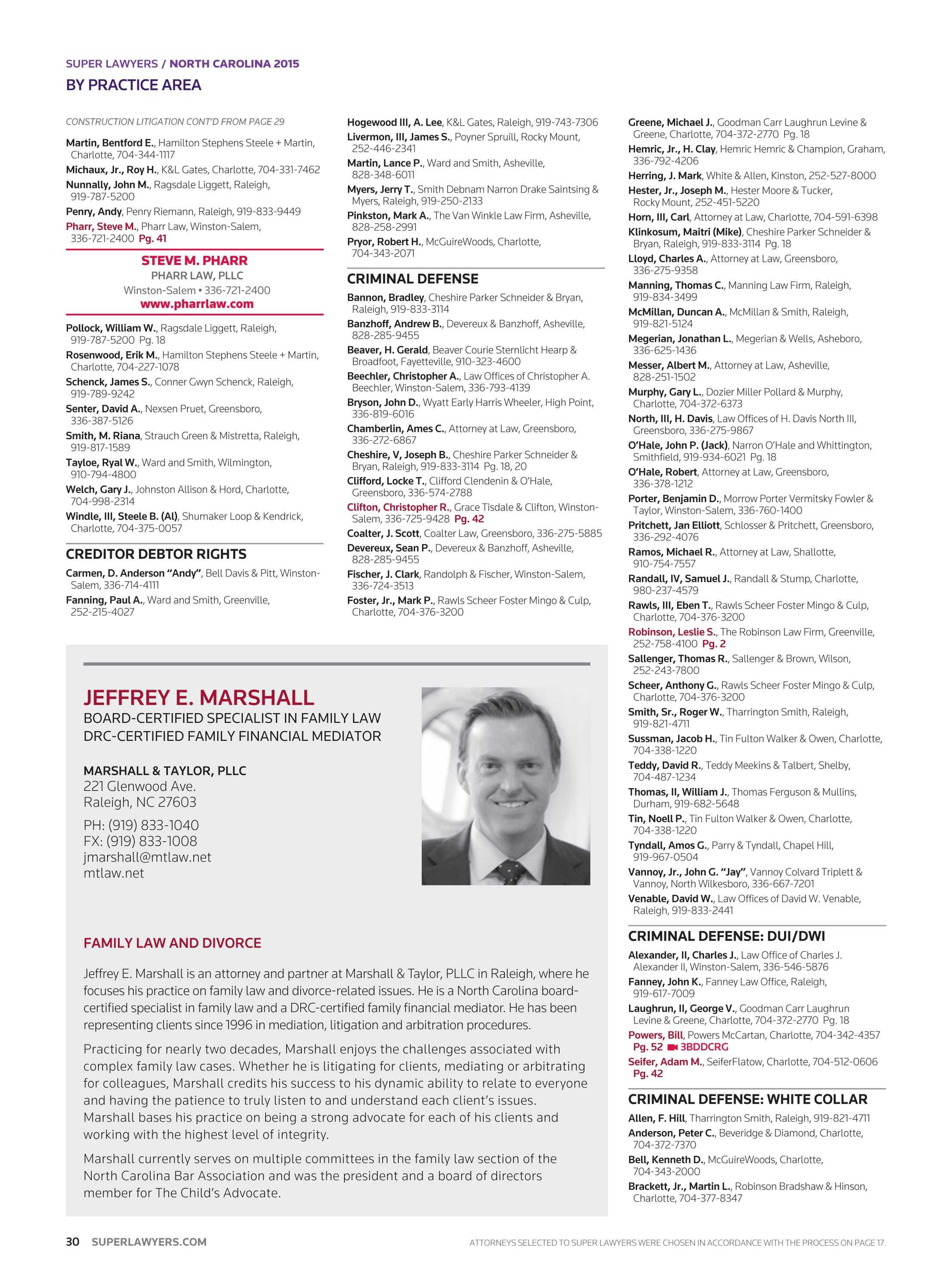 Super Lawyers - North Carolina - page 30