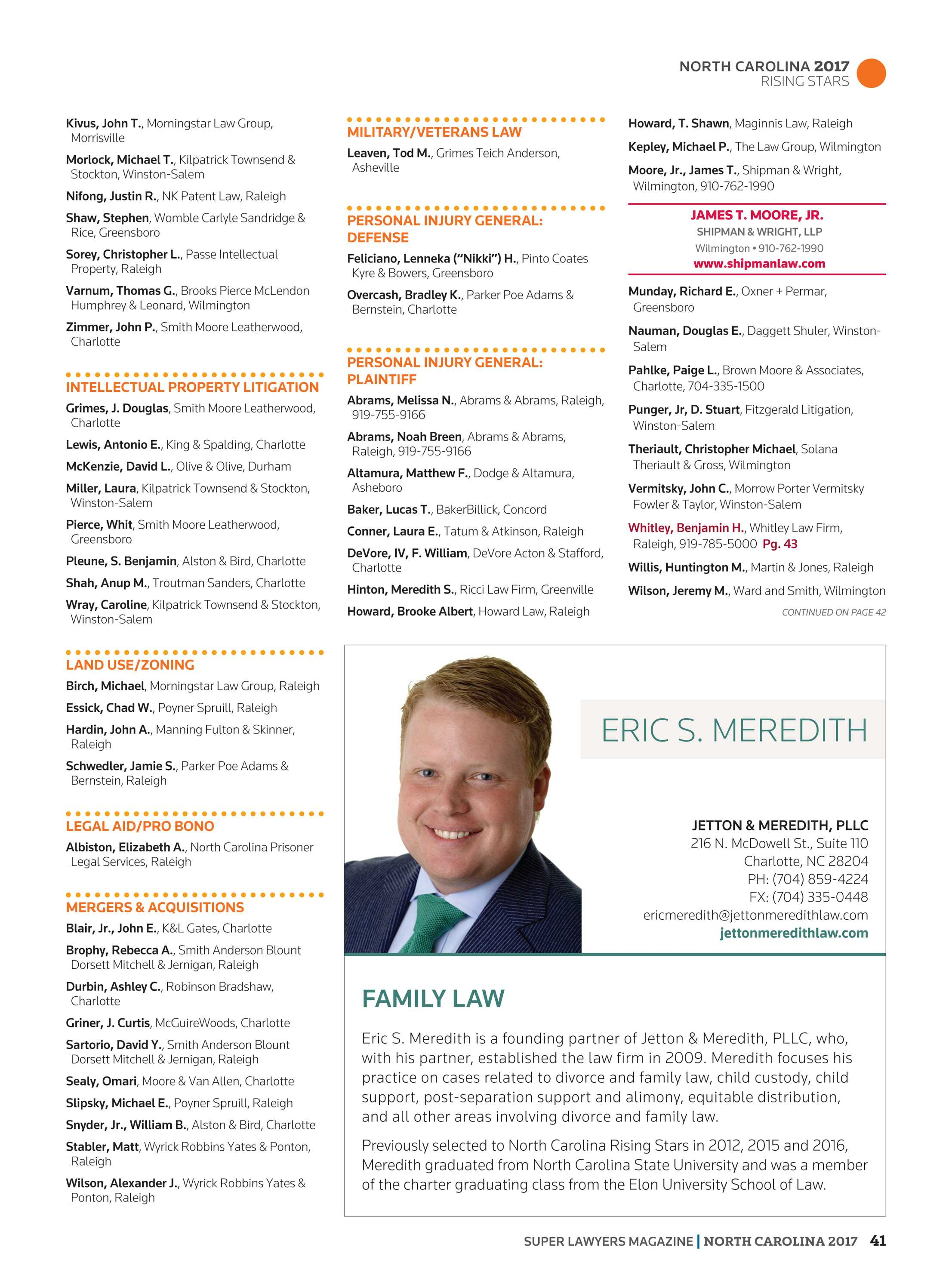 Super Lawyers - Business Edition 2011 - page 41