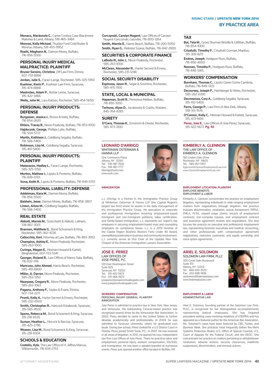 Super Lawyers - Upstate New York 2014 - page 42