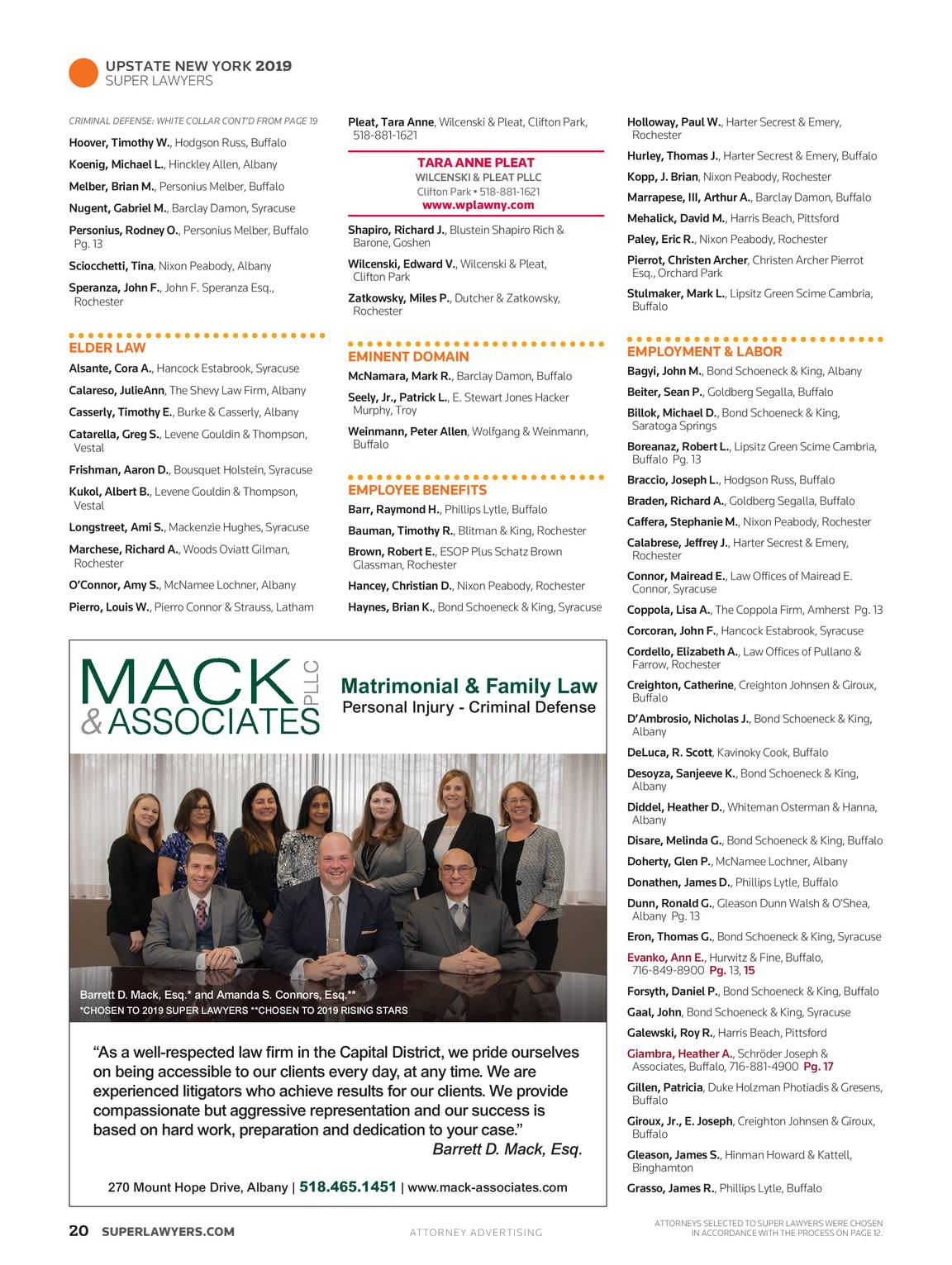 Super Lawyers - Upstate New York 2019 - page 19