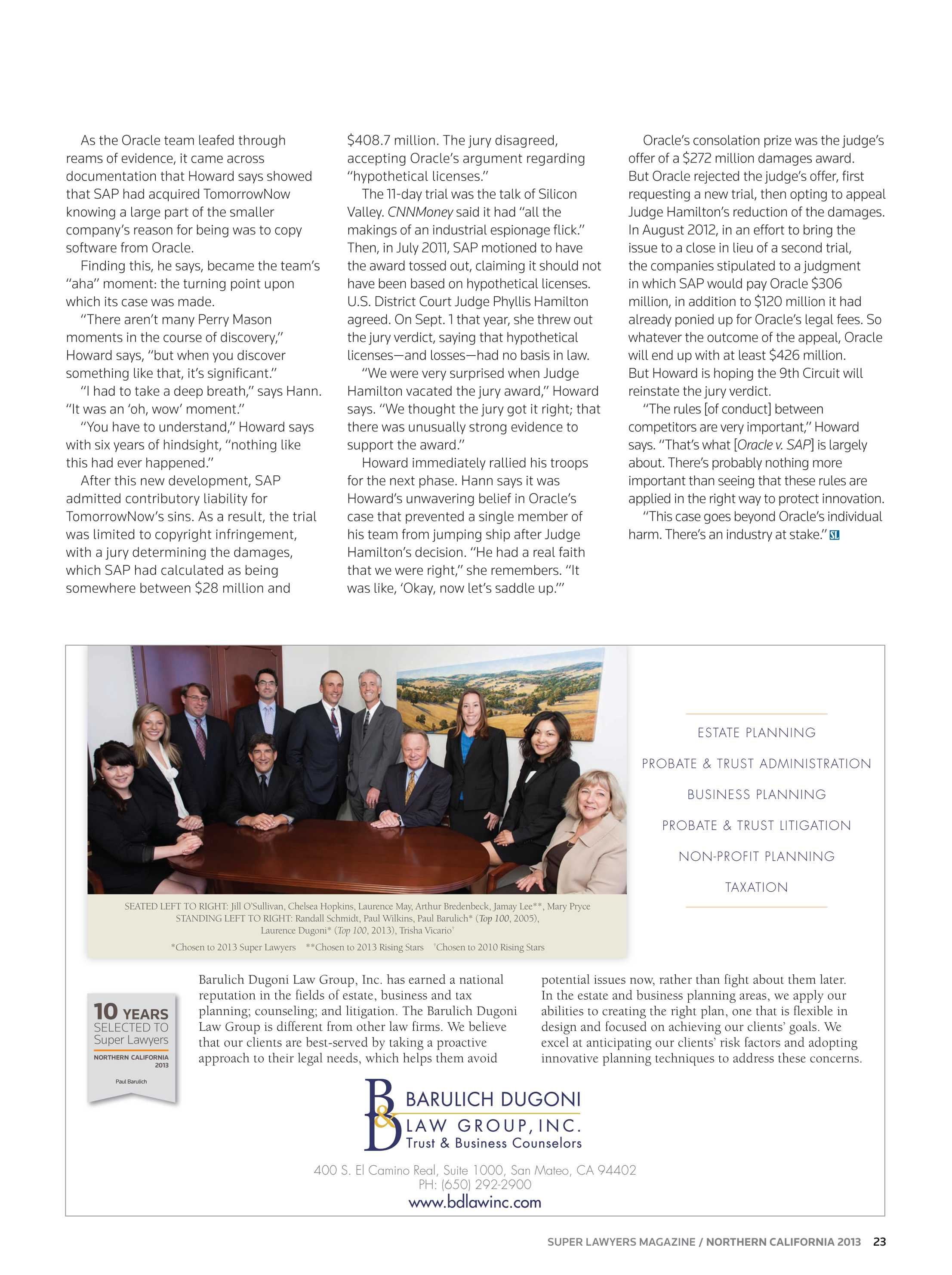 Super Lawyers - Northern California 2013 - page 23