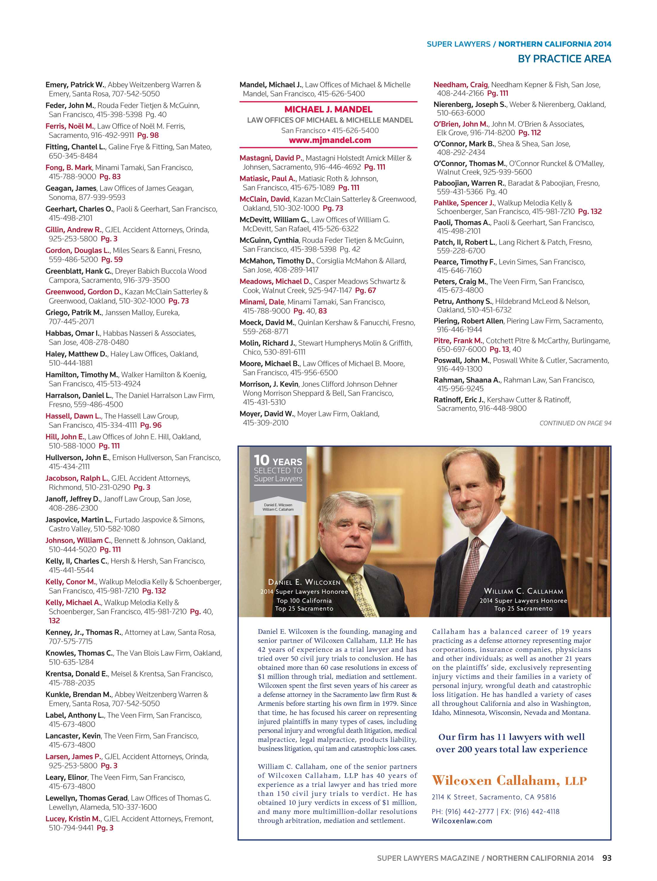 Super Lawyers - Northern California 2014 - page 93