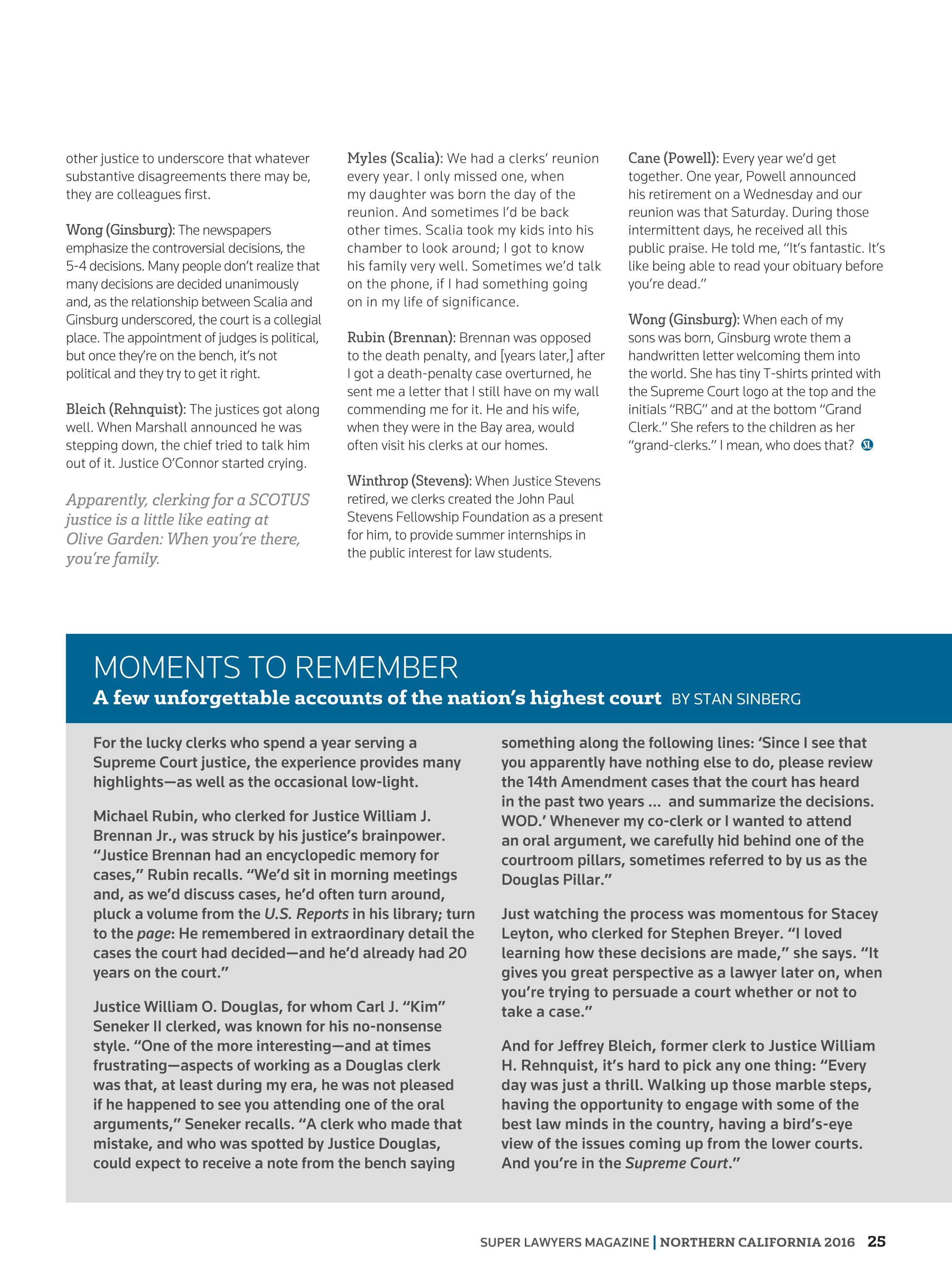 Super Lawyers - Northern California 2016 - page 25