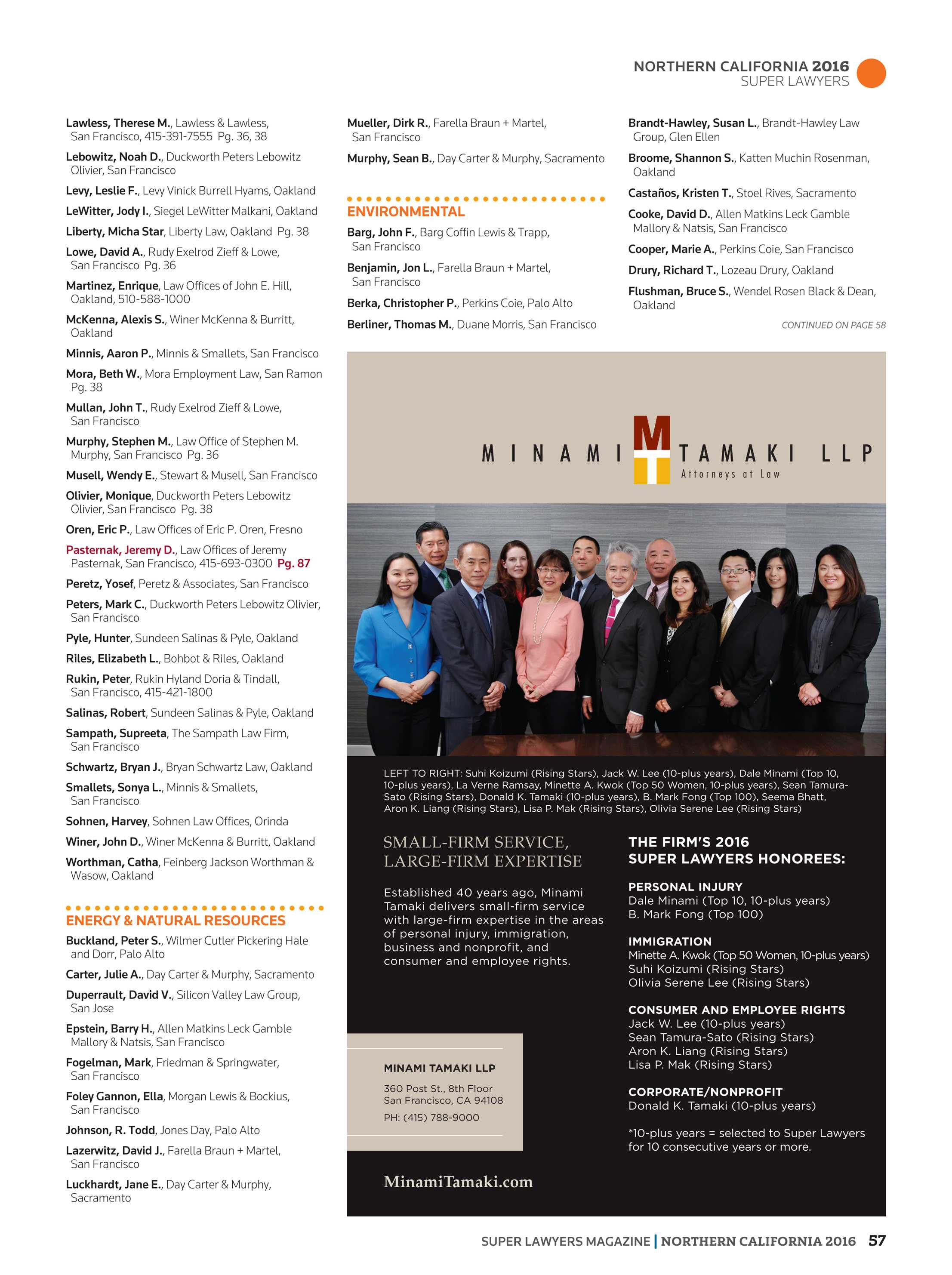 Super Lawyers - Northern California 2016 - page 57