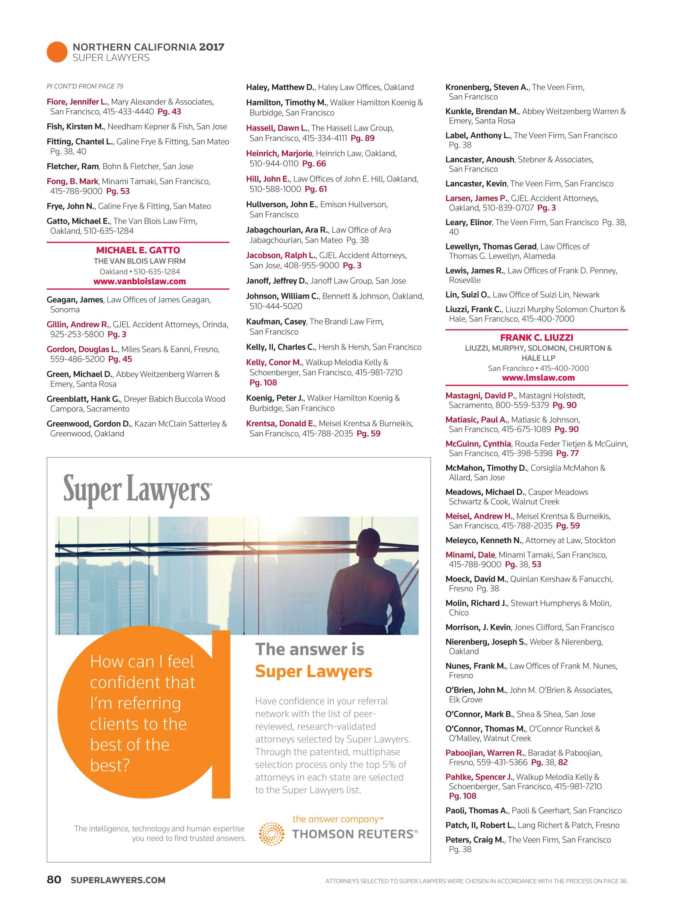 Super Lawyers - Northern California 2017 - page 80
