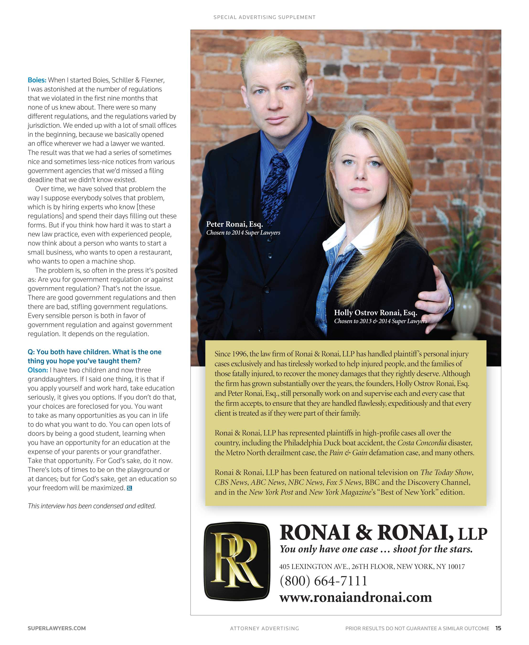 Super Lawyers - New York Metro 2014 Supplement - page 15