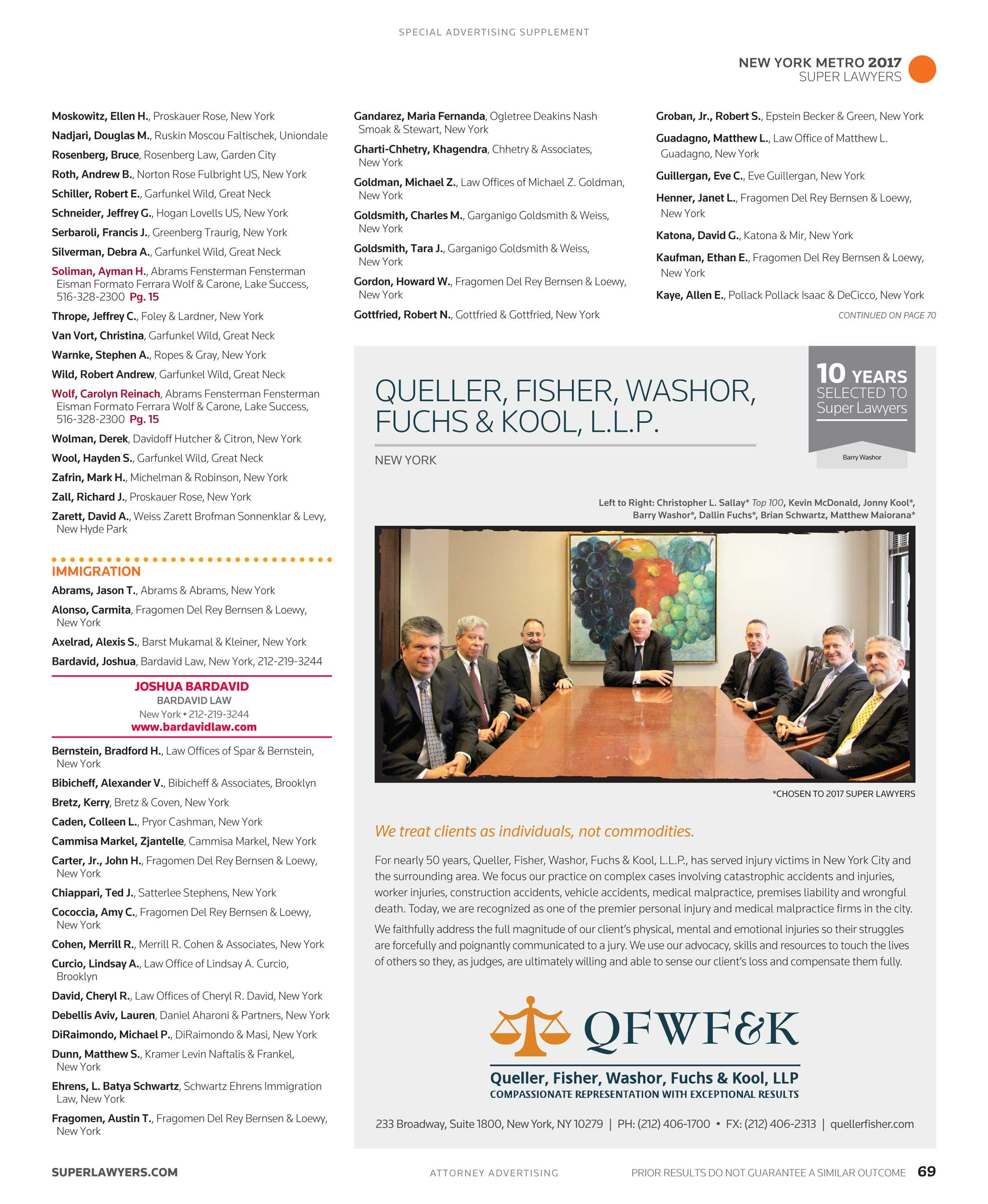 caf53b6fcee Super Lawyers - New York Metro 2017 Supplement - page 69