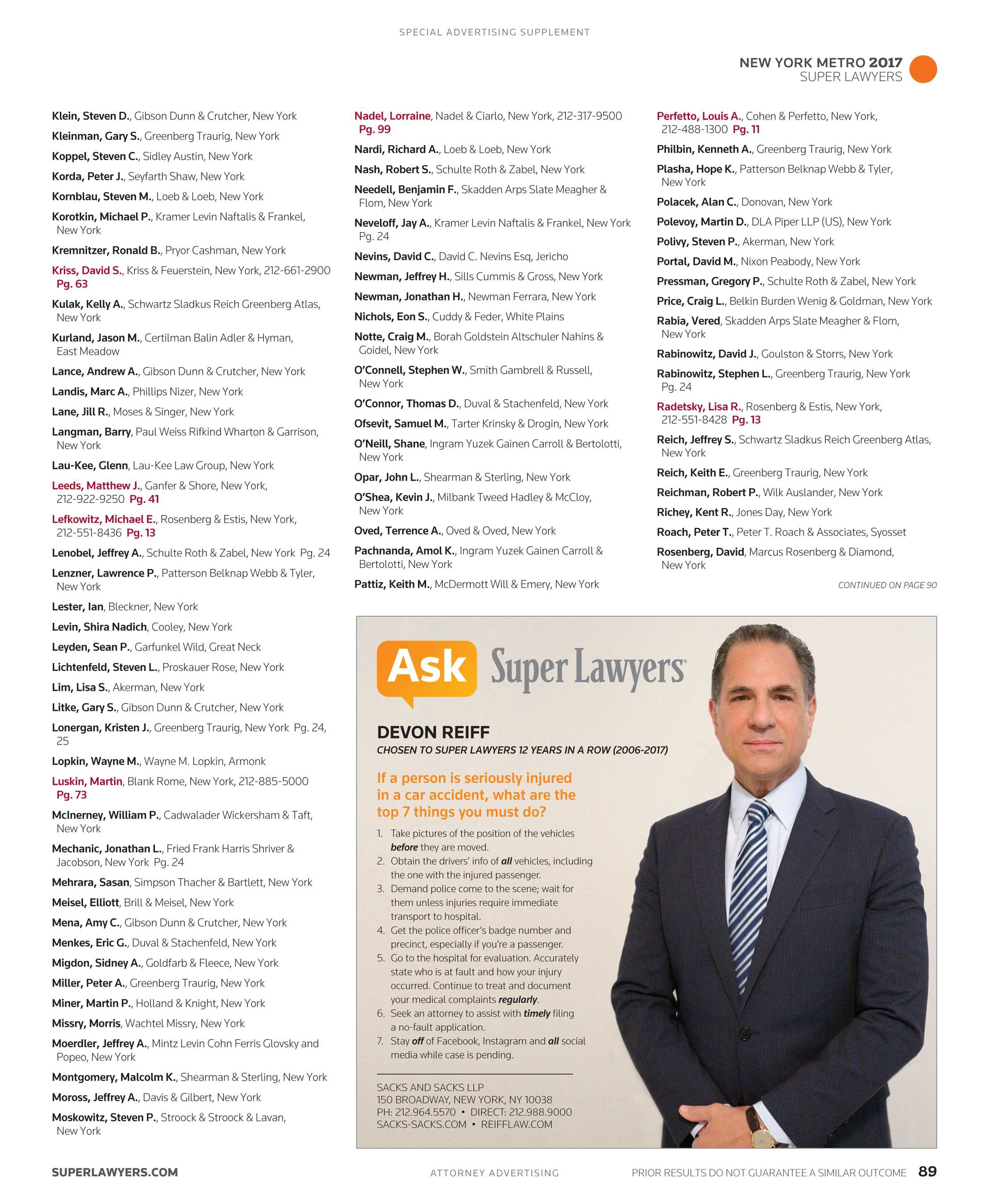 2d01d3f3f7d Super Lawyers - New York Metro 2017 Supplement - page 89
