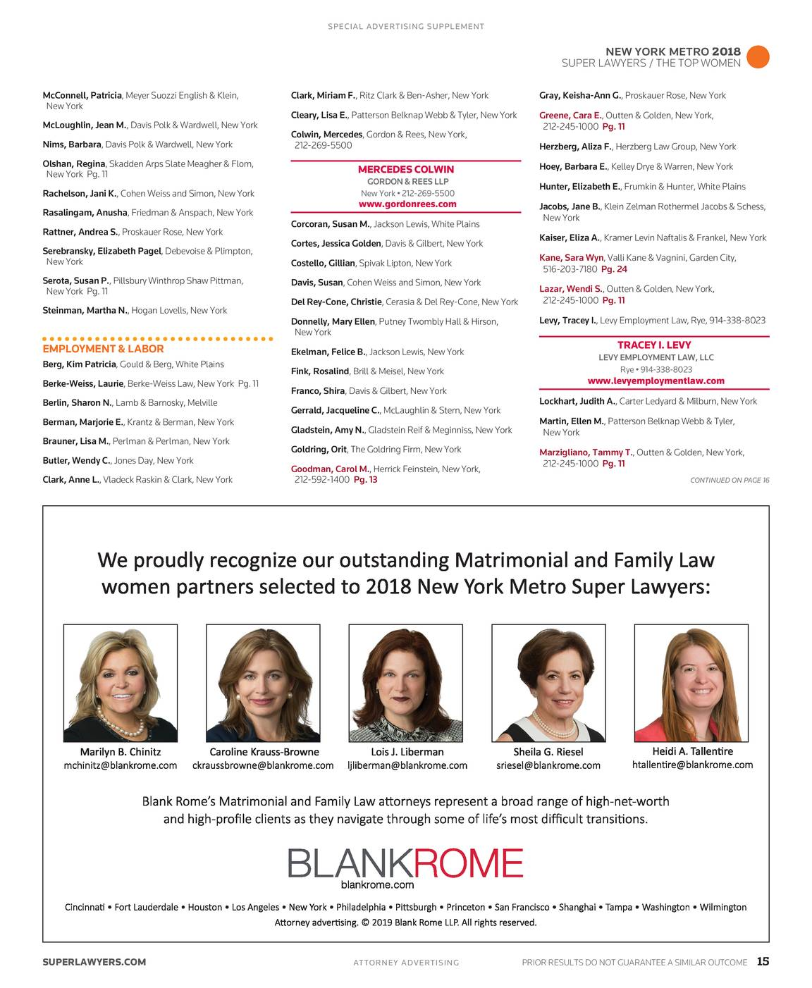 Super Lawyers - The Top Women Attorneys in New York Metro