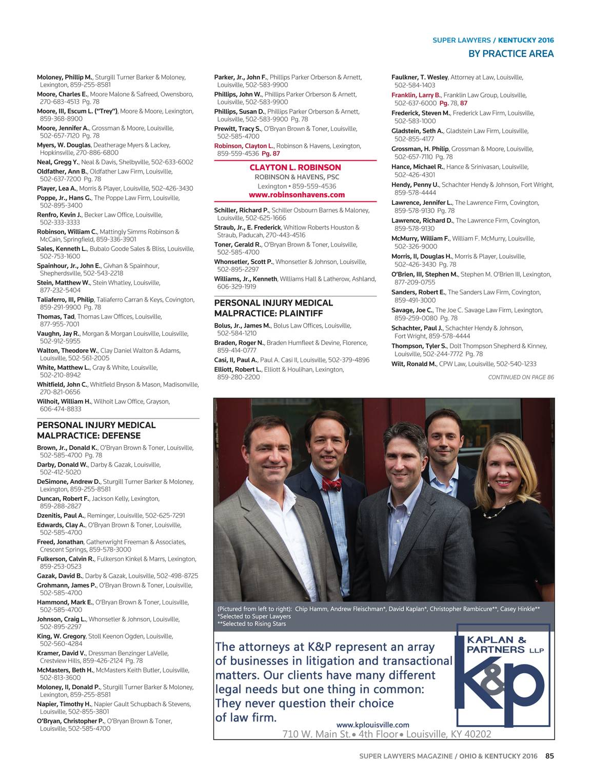 Super Lawyers - Ohio and Kentucky 2016 - page 86