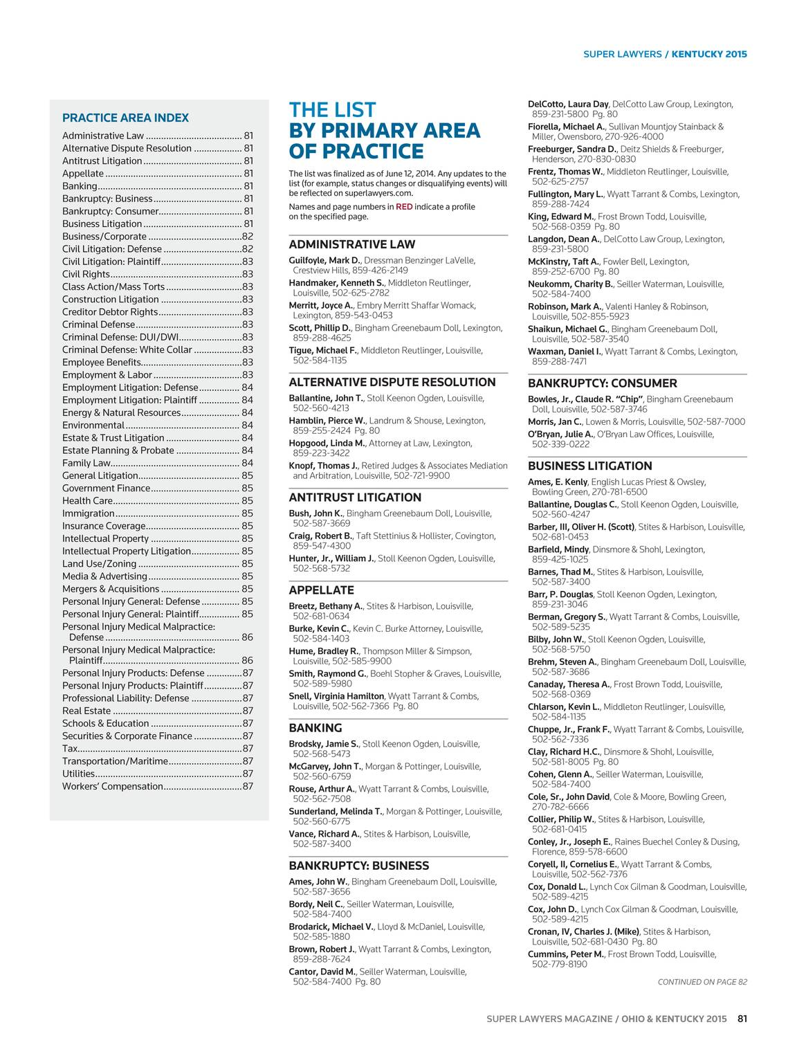 Super Lawyers Ohio And Kentucky 2015 Page 81 7400n Chip