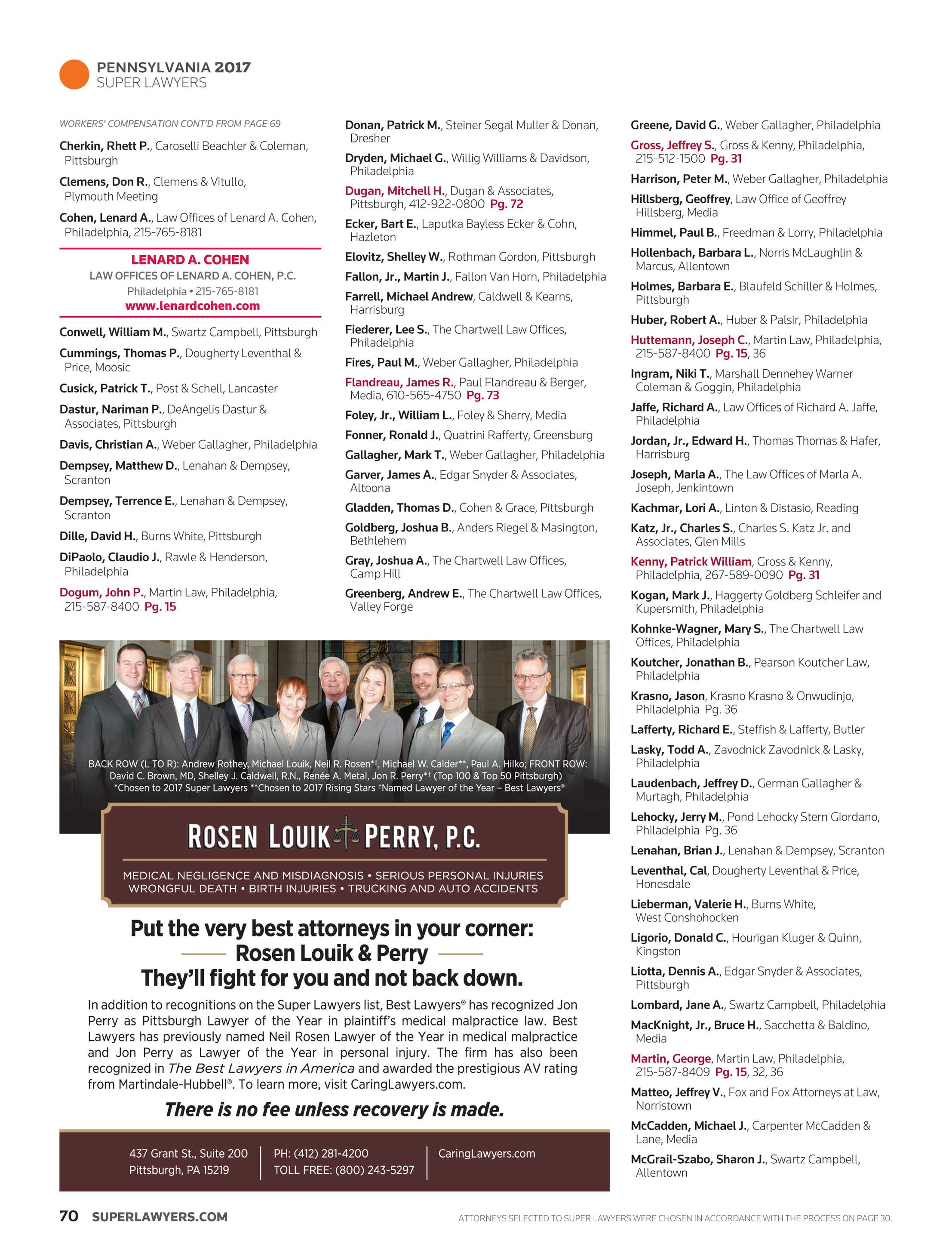 Super Lawyers - Maryland 2017 - page 70