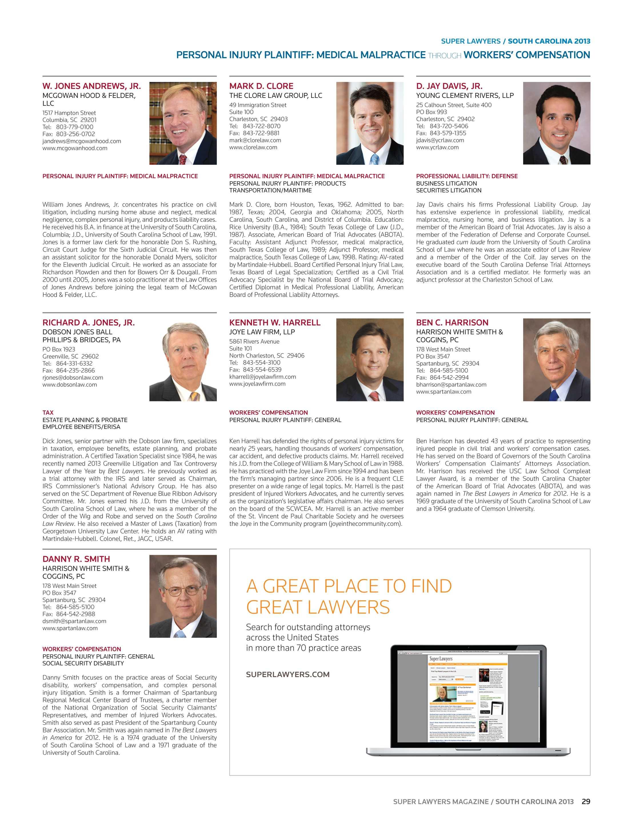 Super Lawyers - South Carolina 2013 - page 29