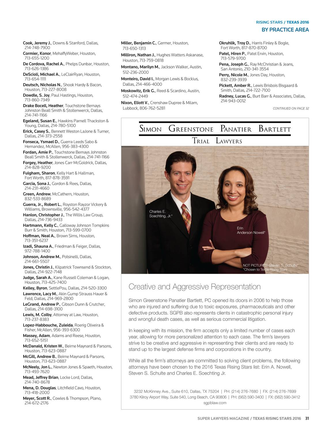 Super Lawyers - Texas Rising Stars 2016 - page 30