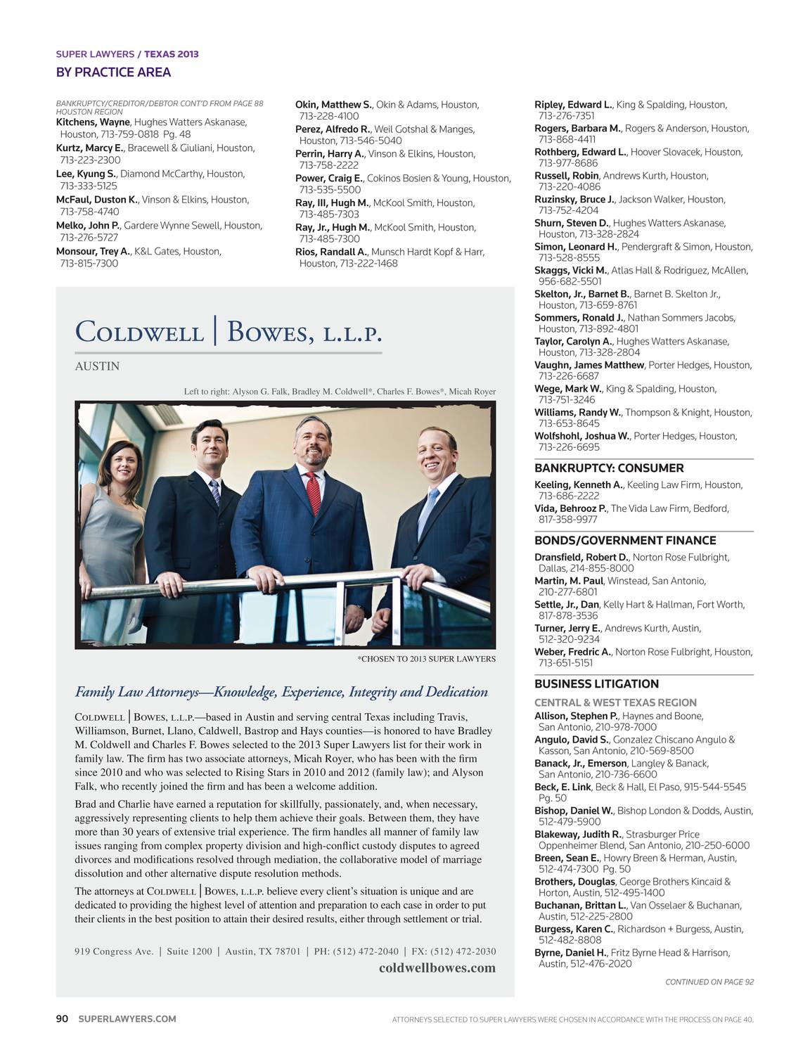 Super Lawyers - Texas 2013 - page 90