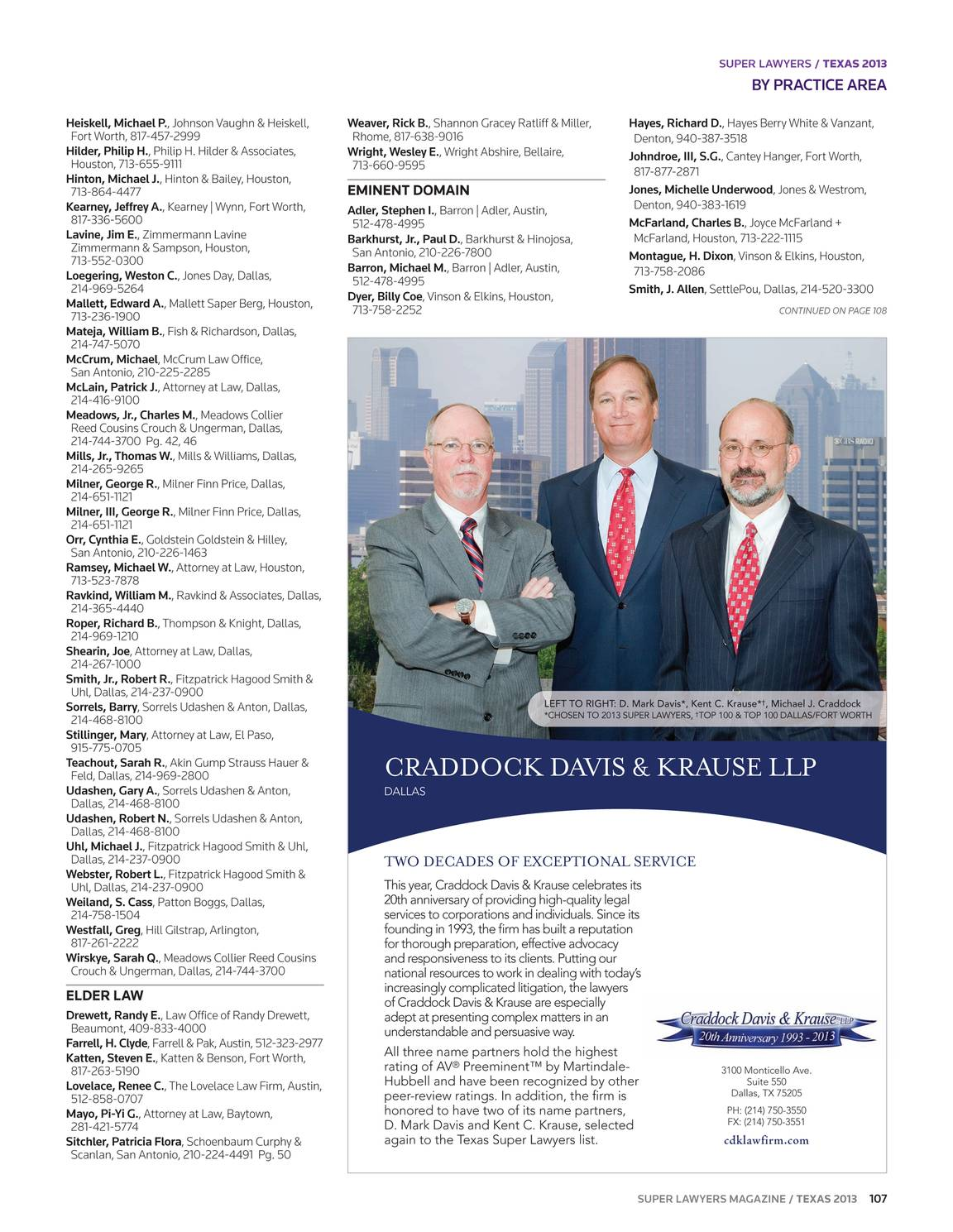 Super Lawyers - Texas 2013 - page 106