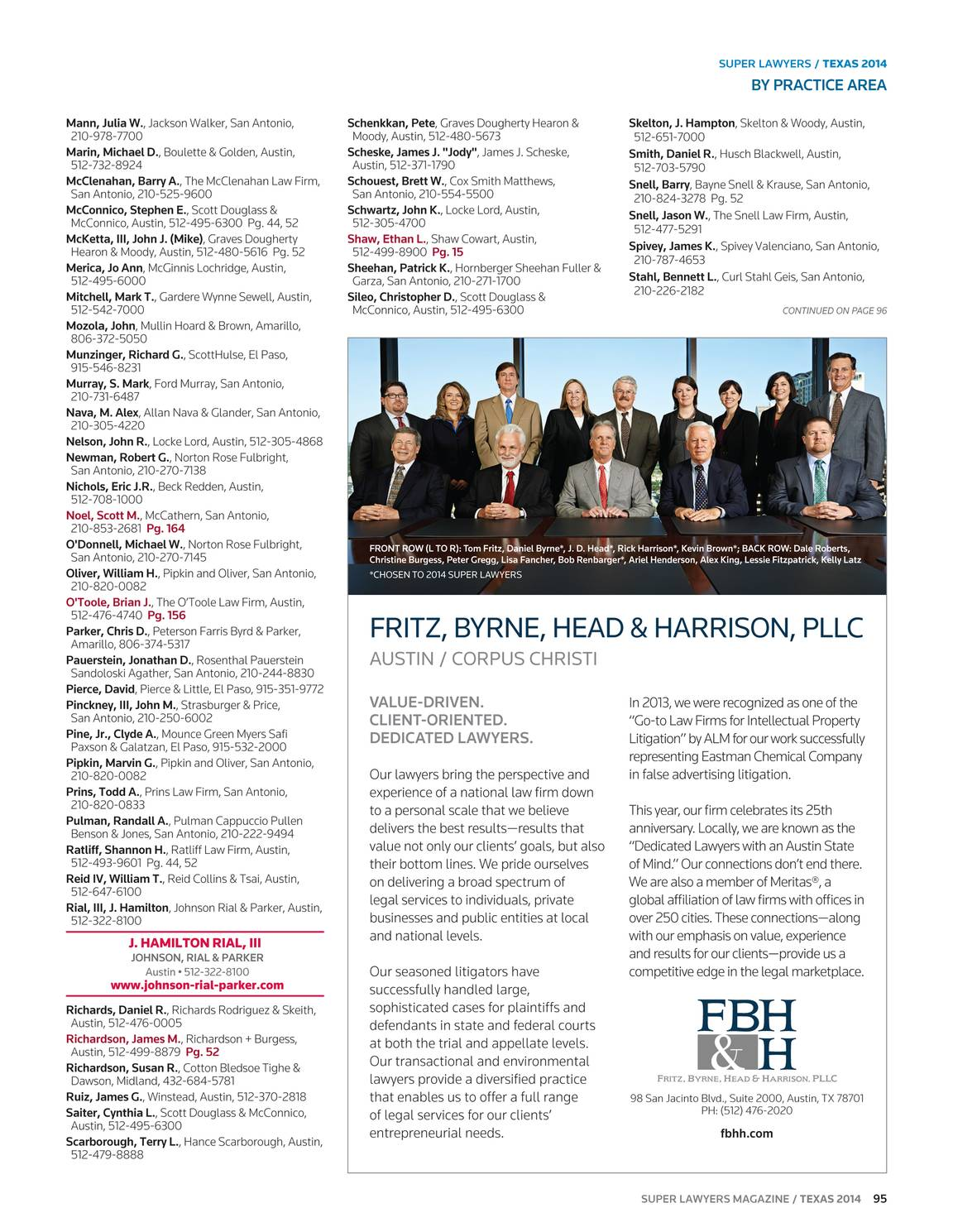 Super Lawyers - Texas 2014 - page 94