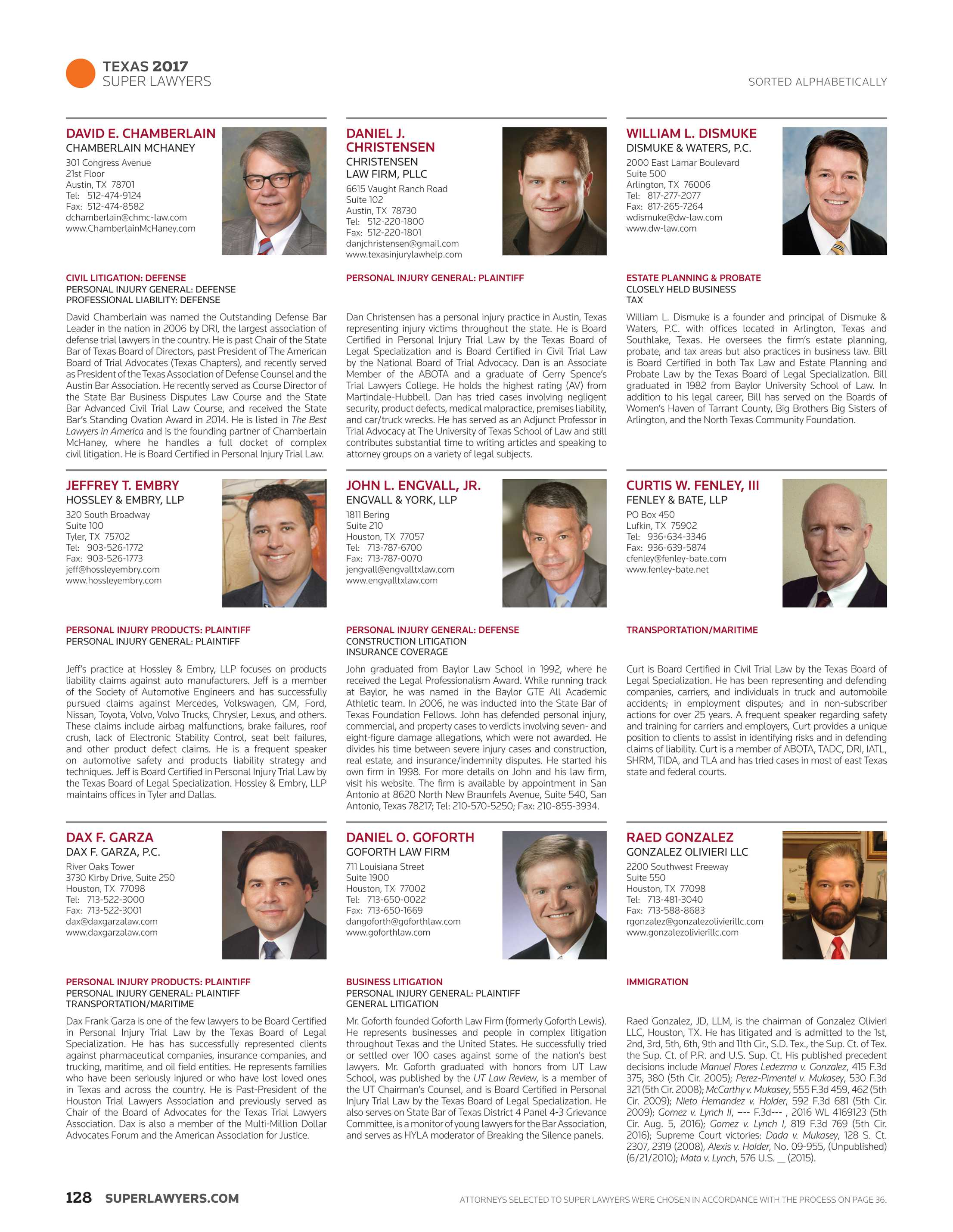 Super Lawyers Texas 2017 Page 128