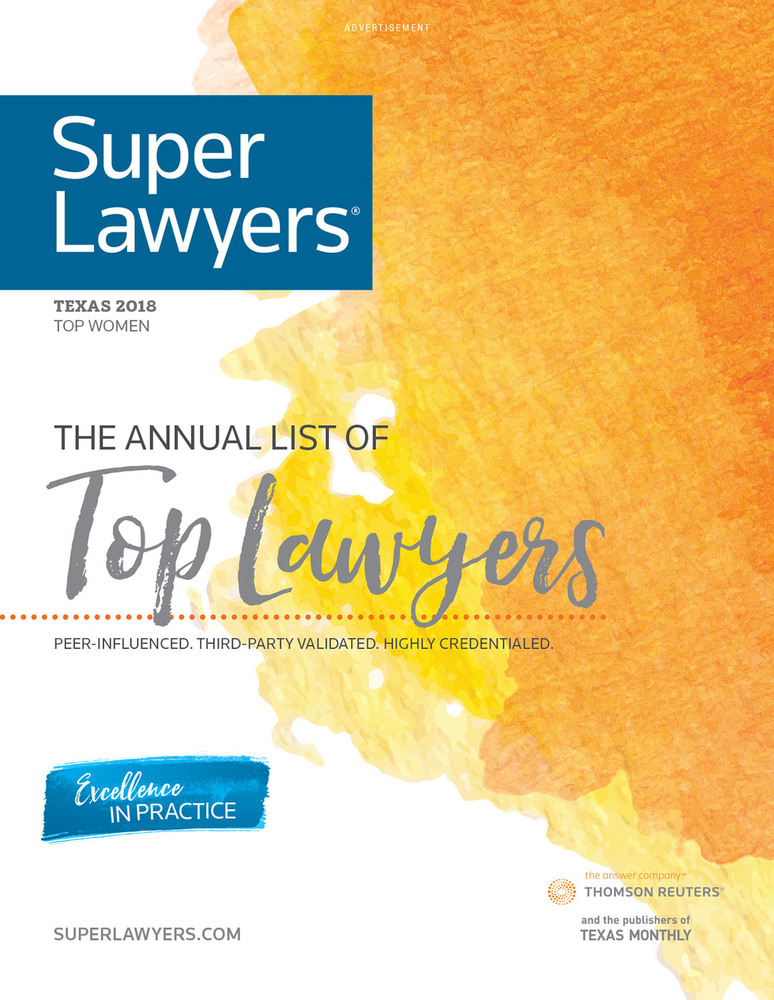 Super Lawyers - The Top Women Attorneys in Texas 2019 - Cover