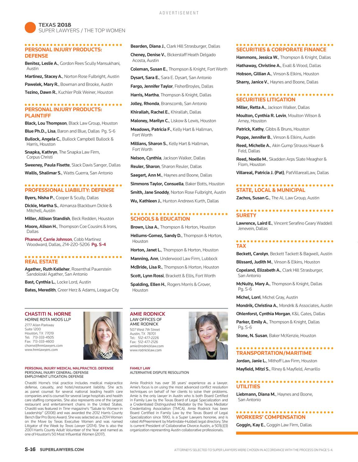 Super Lawyers - The Top Women Attorneys in Texas 2019 - page