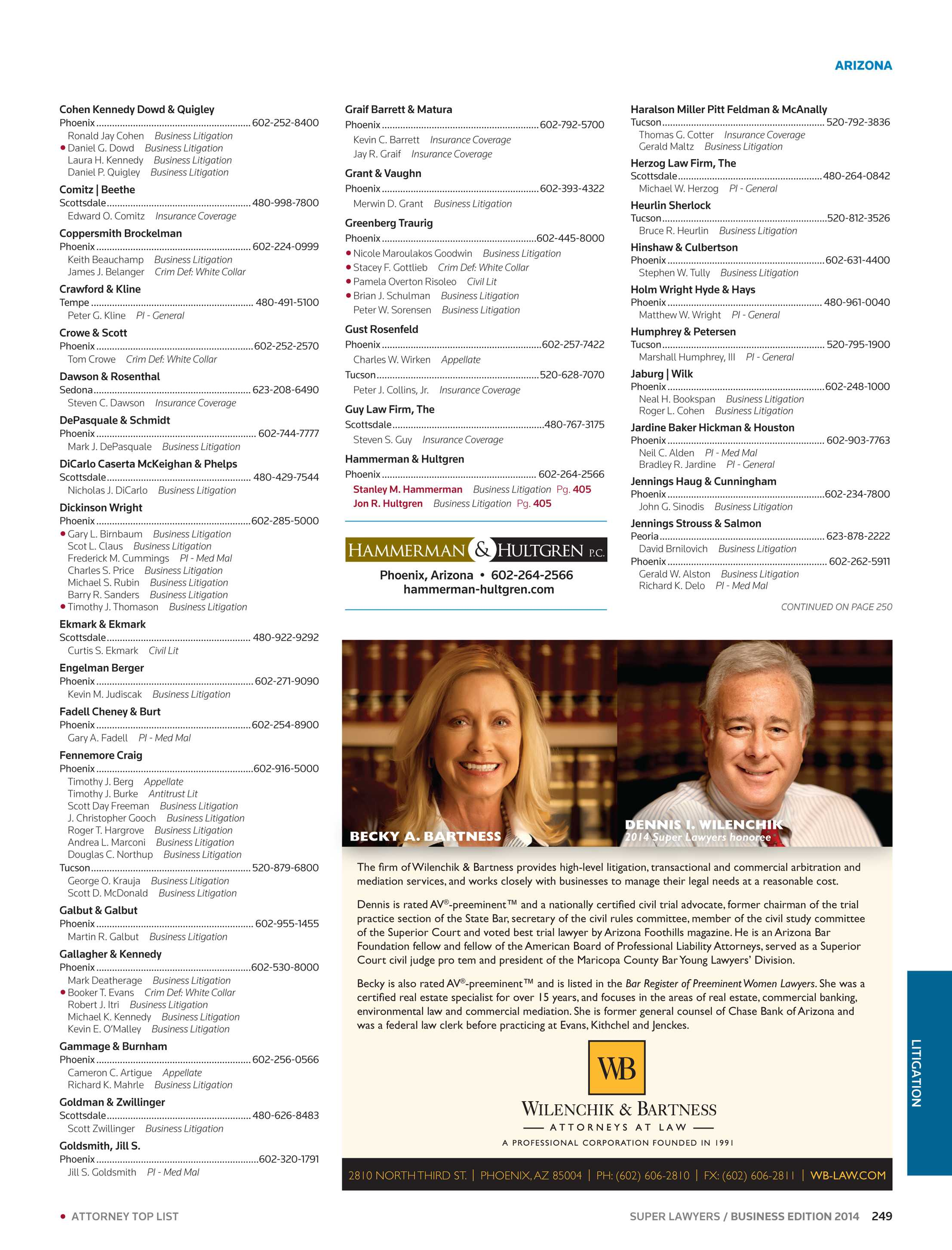 Super Lawyers - Business Edition 2014 - page 249