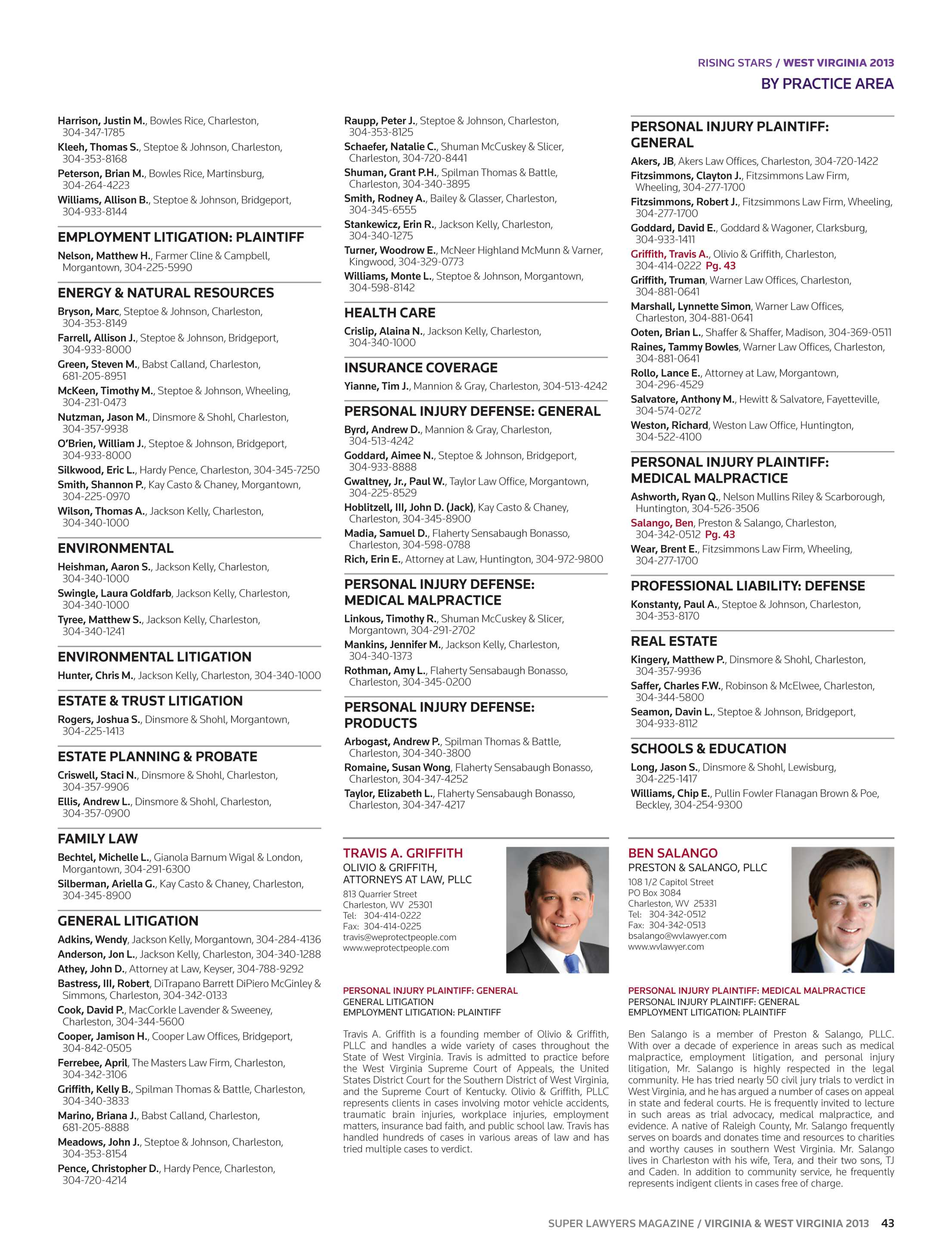 Super Lawyers - Virginia and West Virginia 2013 - page 43