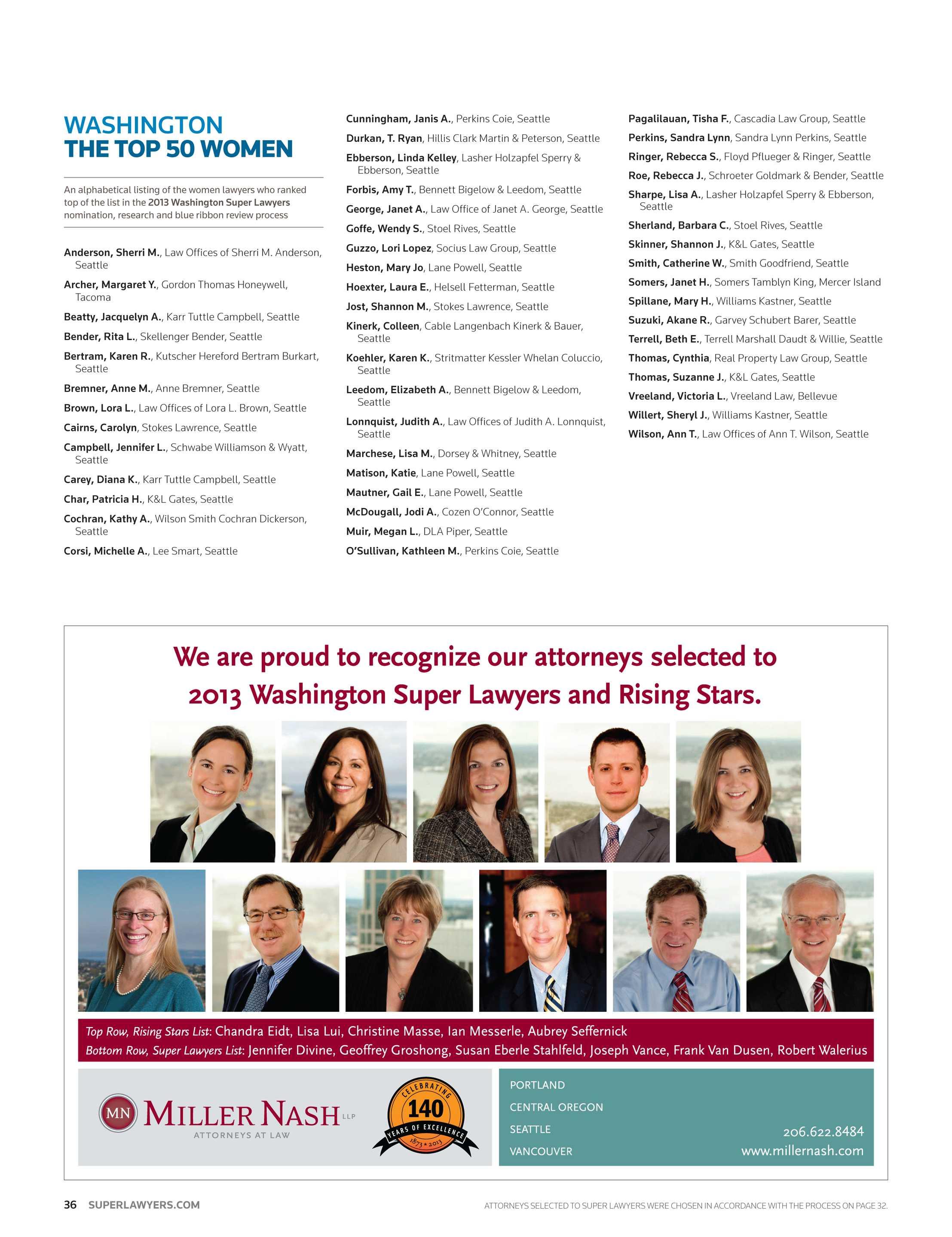 Super Lawyers - Washington 2013 - page 36