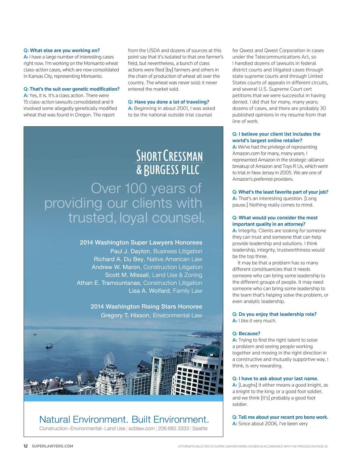 Super Lawyers - Washington 2014 - page 13