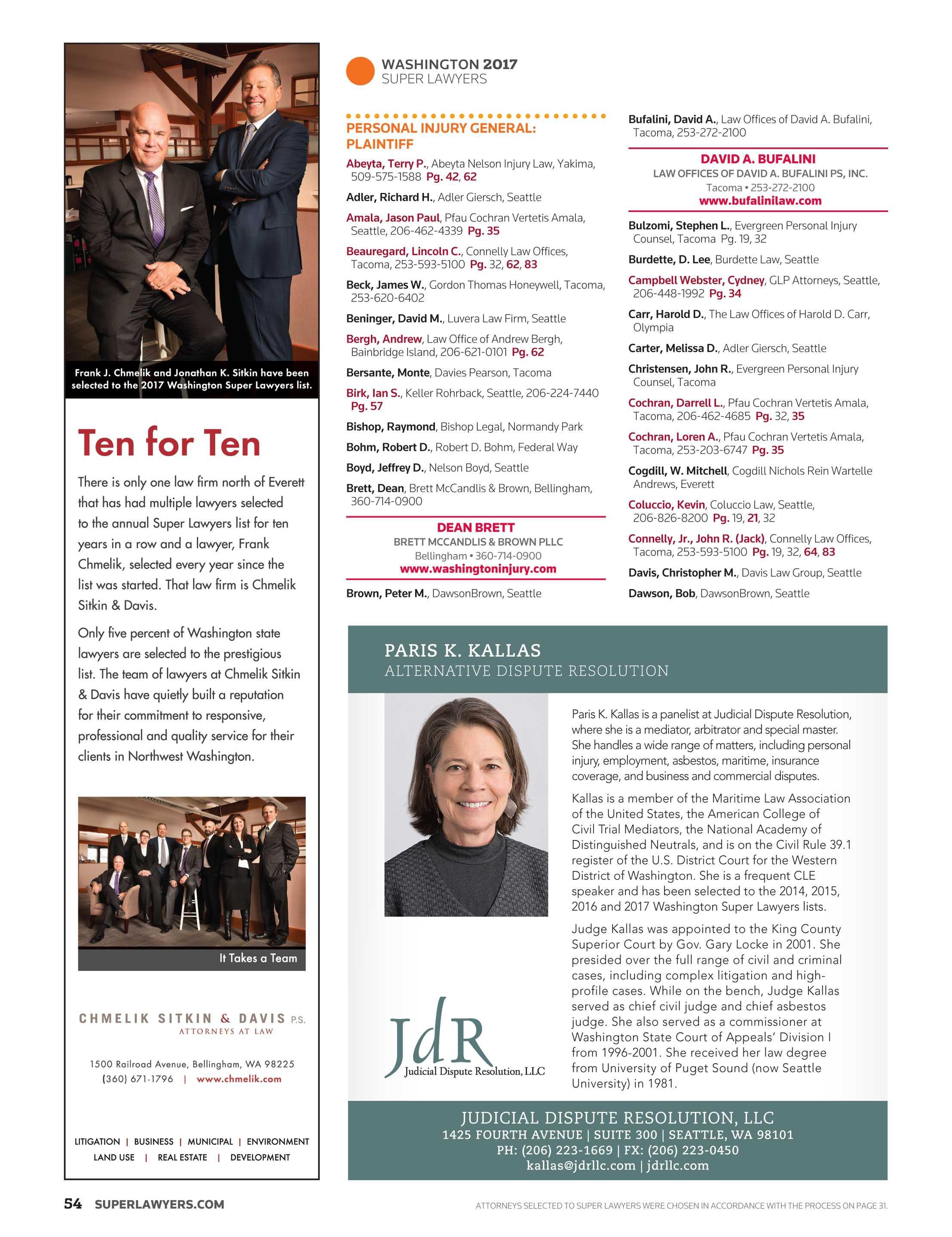 Super Lawyers - Washington 2017 - page 54