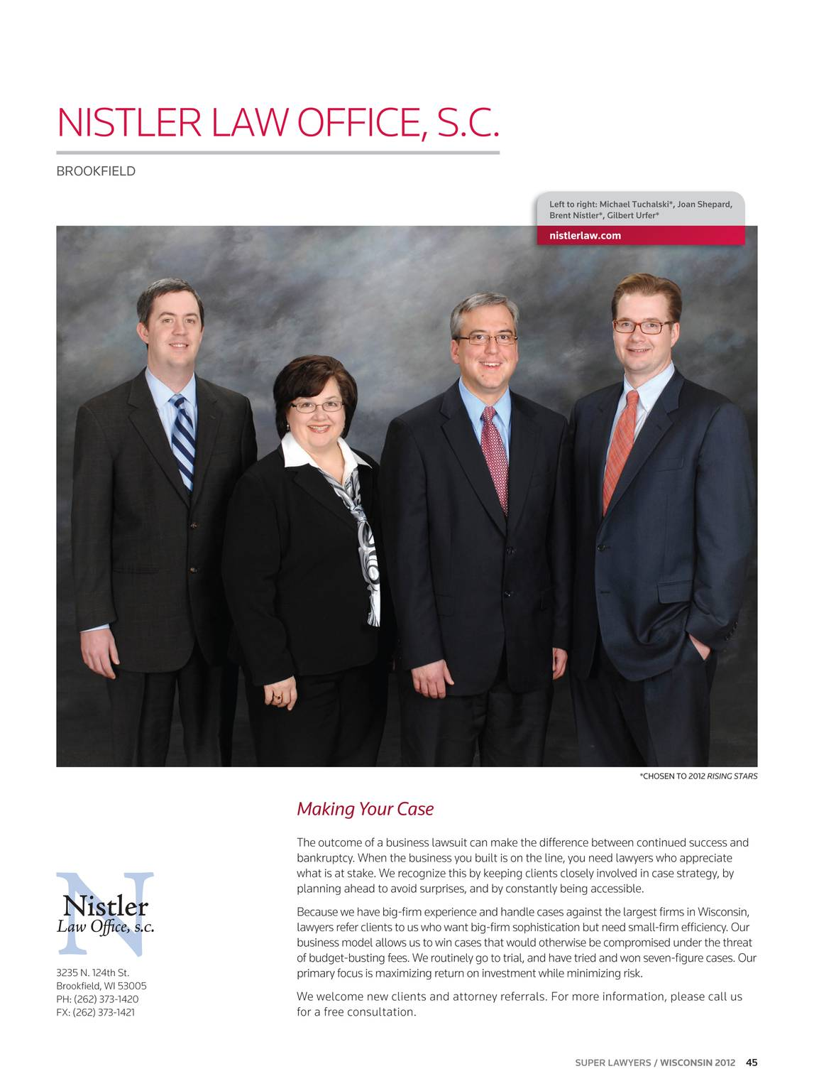Super Lawyers - Wisconsin 2012 - page 44
