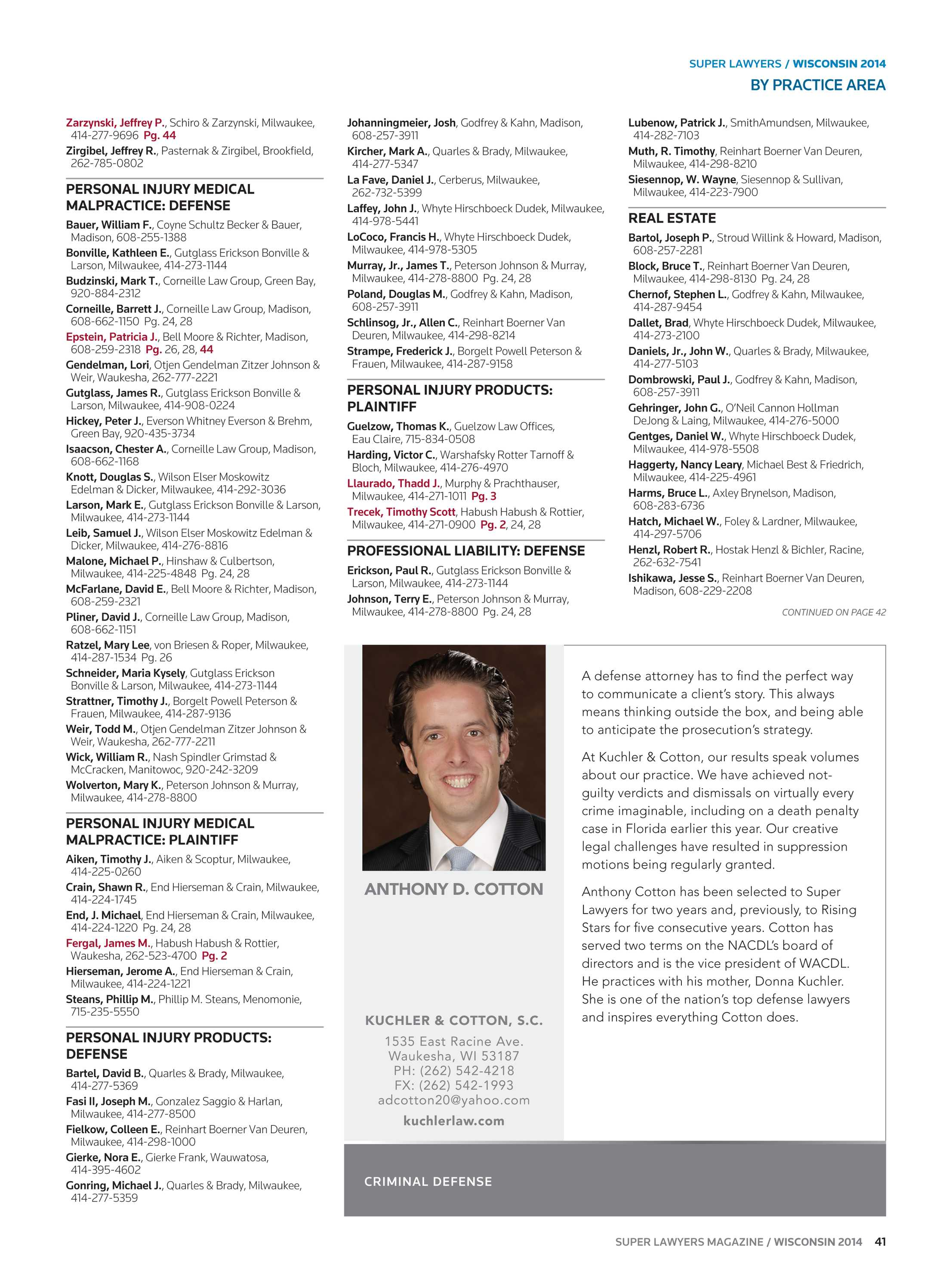Super Lawyers - Wisconsin 2014 - page 41