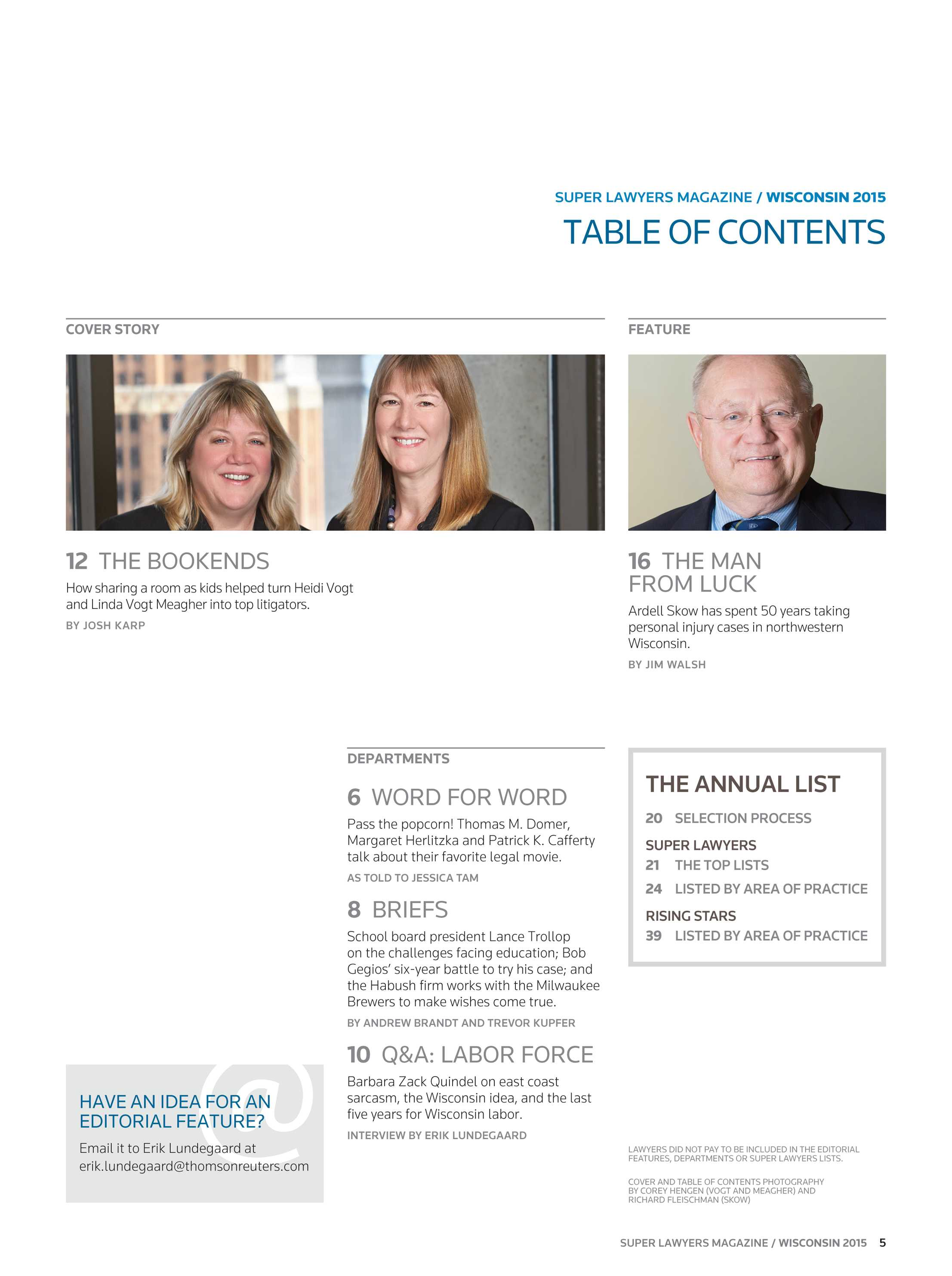 Super Lawyers - Wisconsin 2015 - page 5