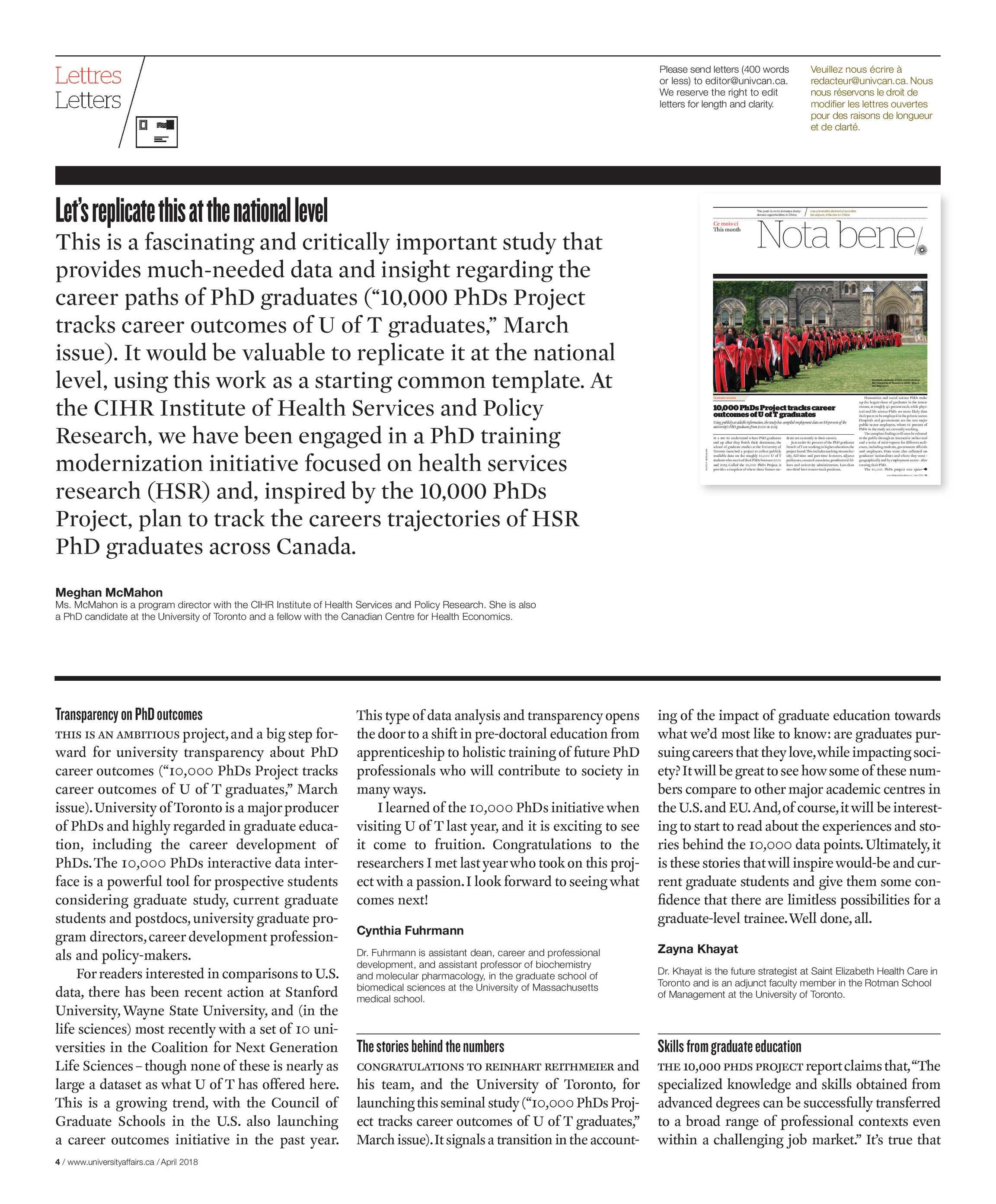 University Affairs April 2018 Page 4