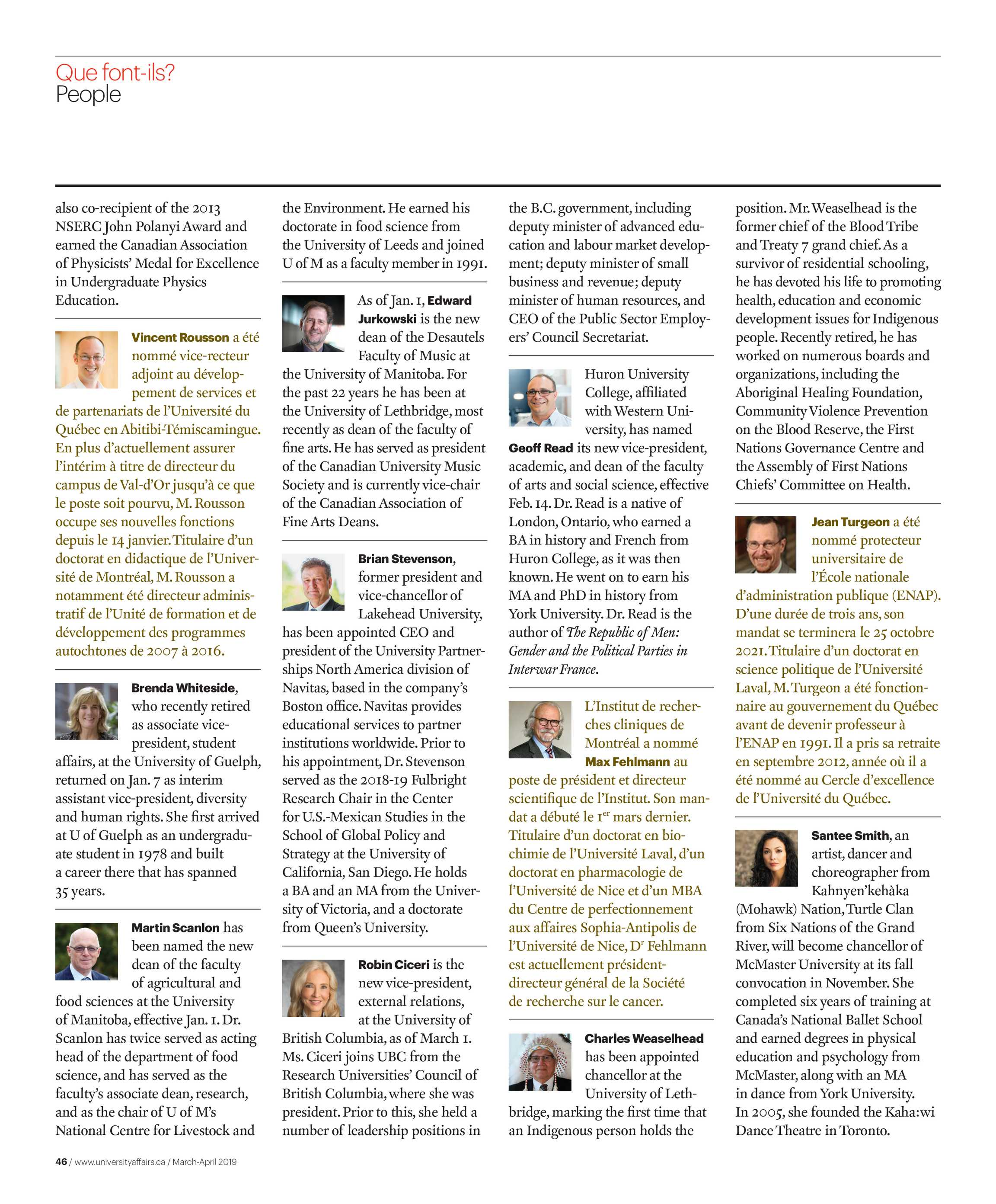 University Affairs - March-April 2019 - page 46