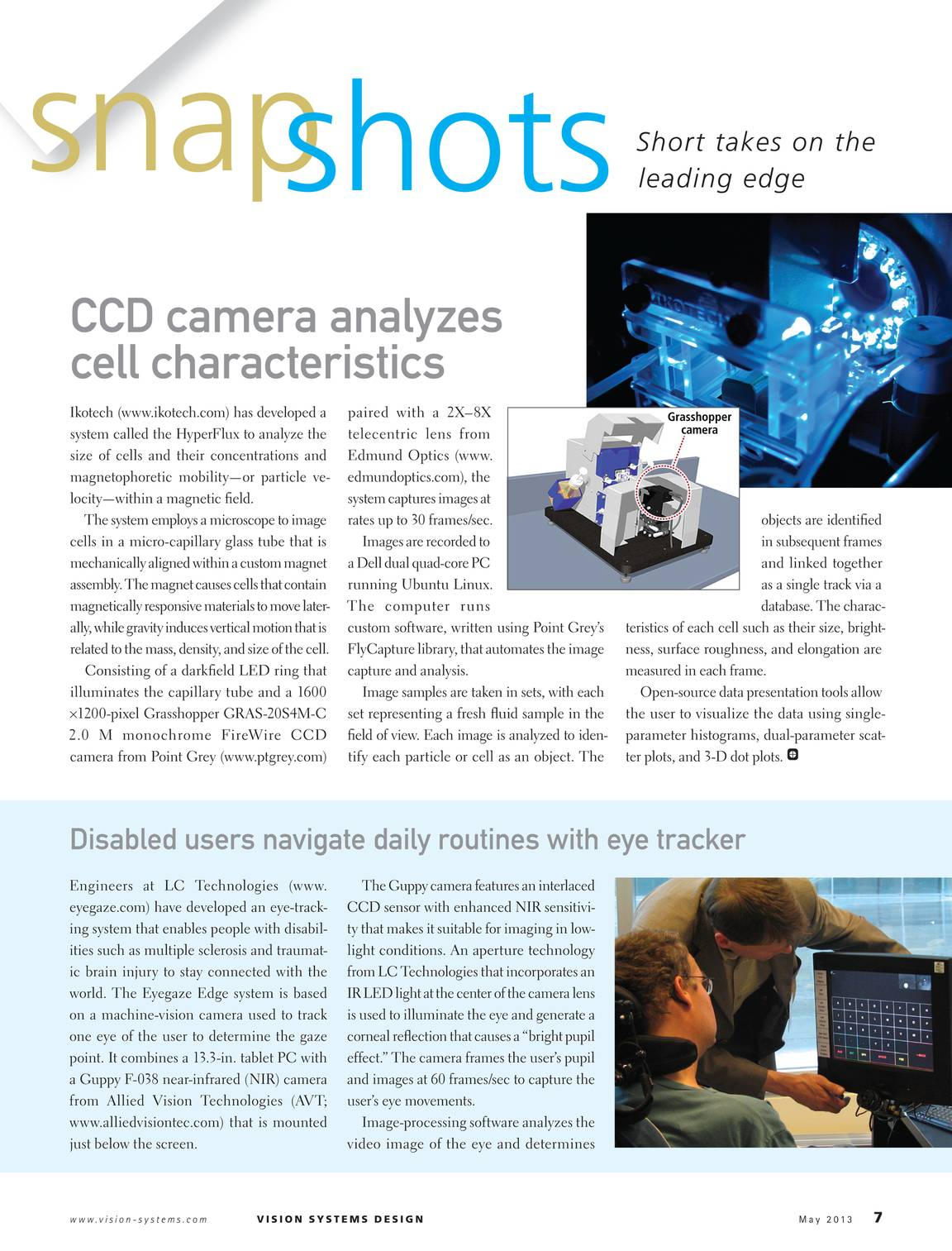 Vision Systems - May 2013 - page 6