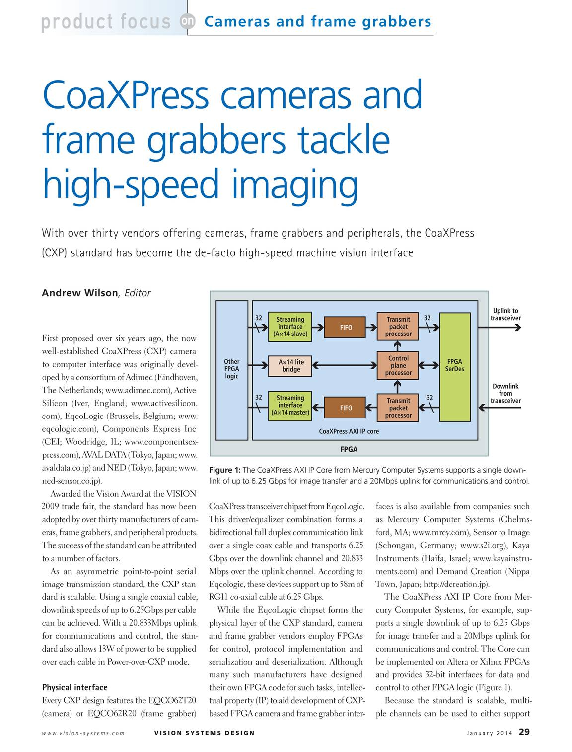 Vision Systems - January 2014 - page 29