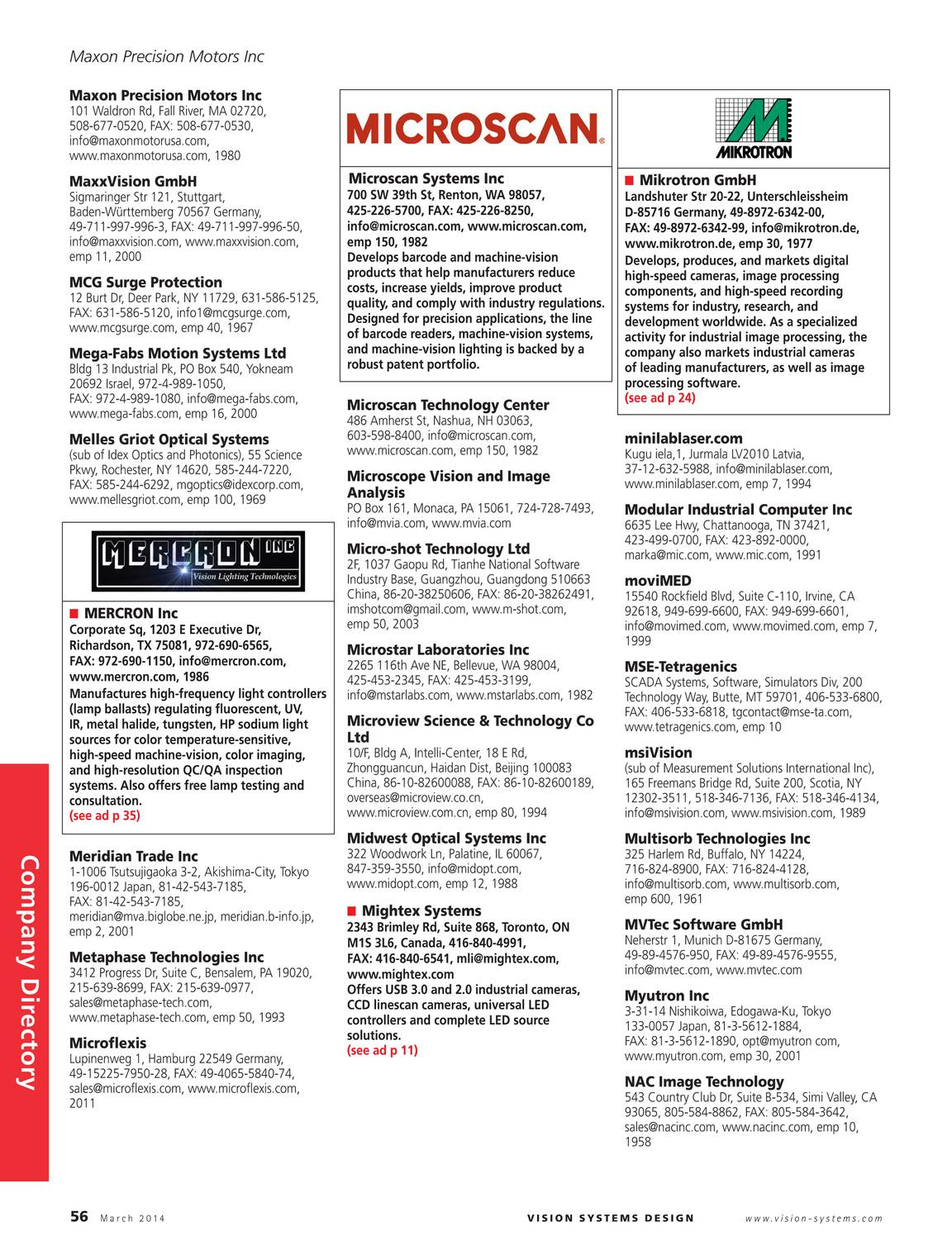 Vision Systems - March 2014 - page 55