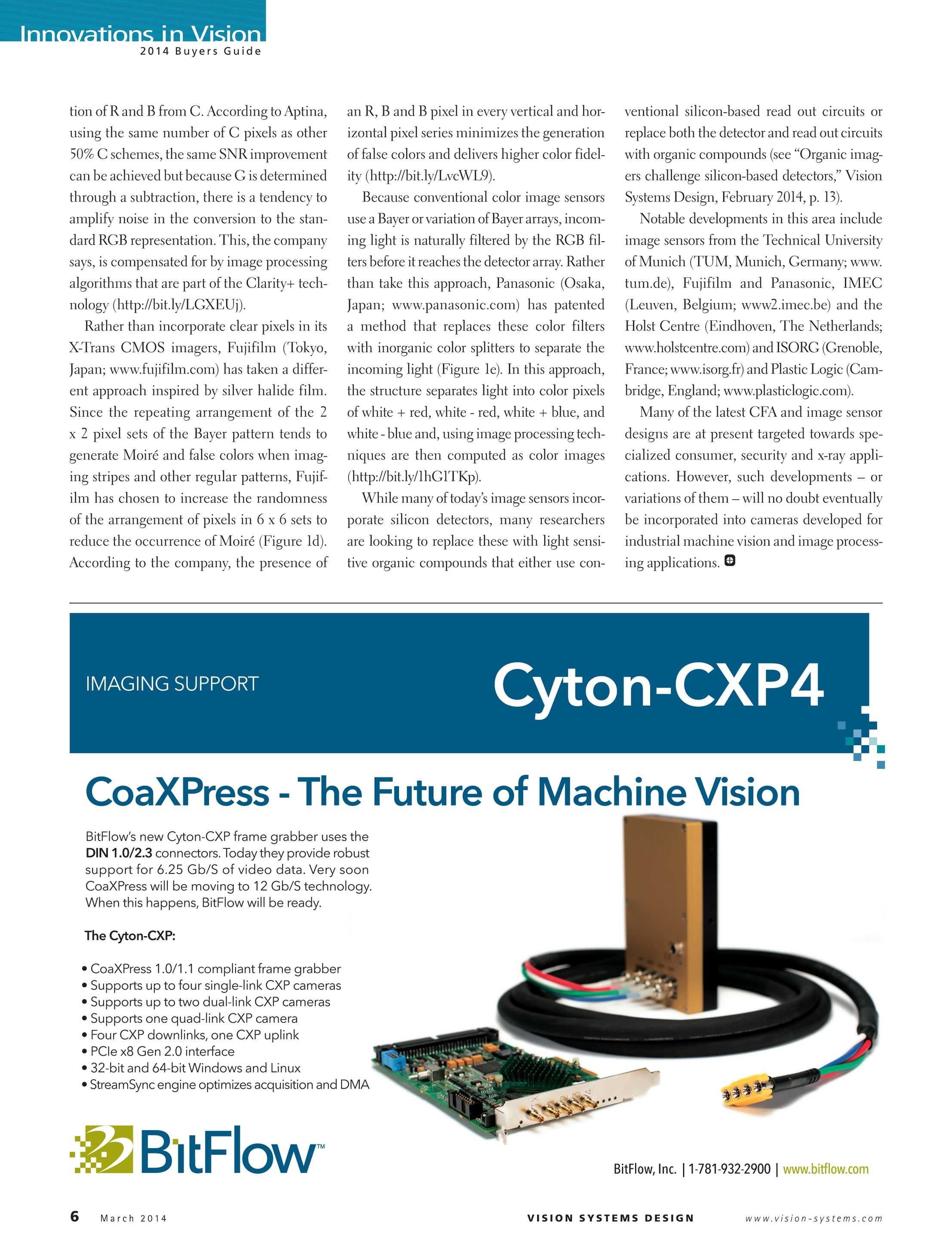 Vision Systems - March 2014 - page 6