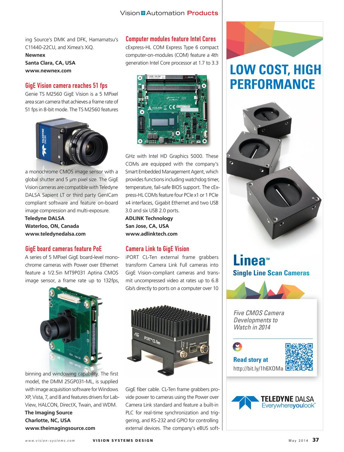 Vision Systems - May 2014 - page 37