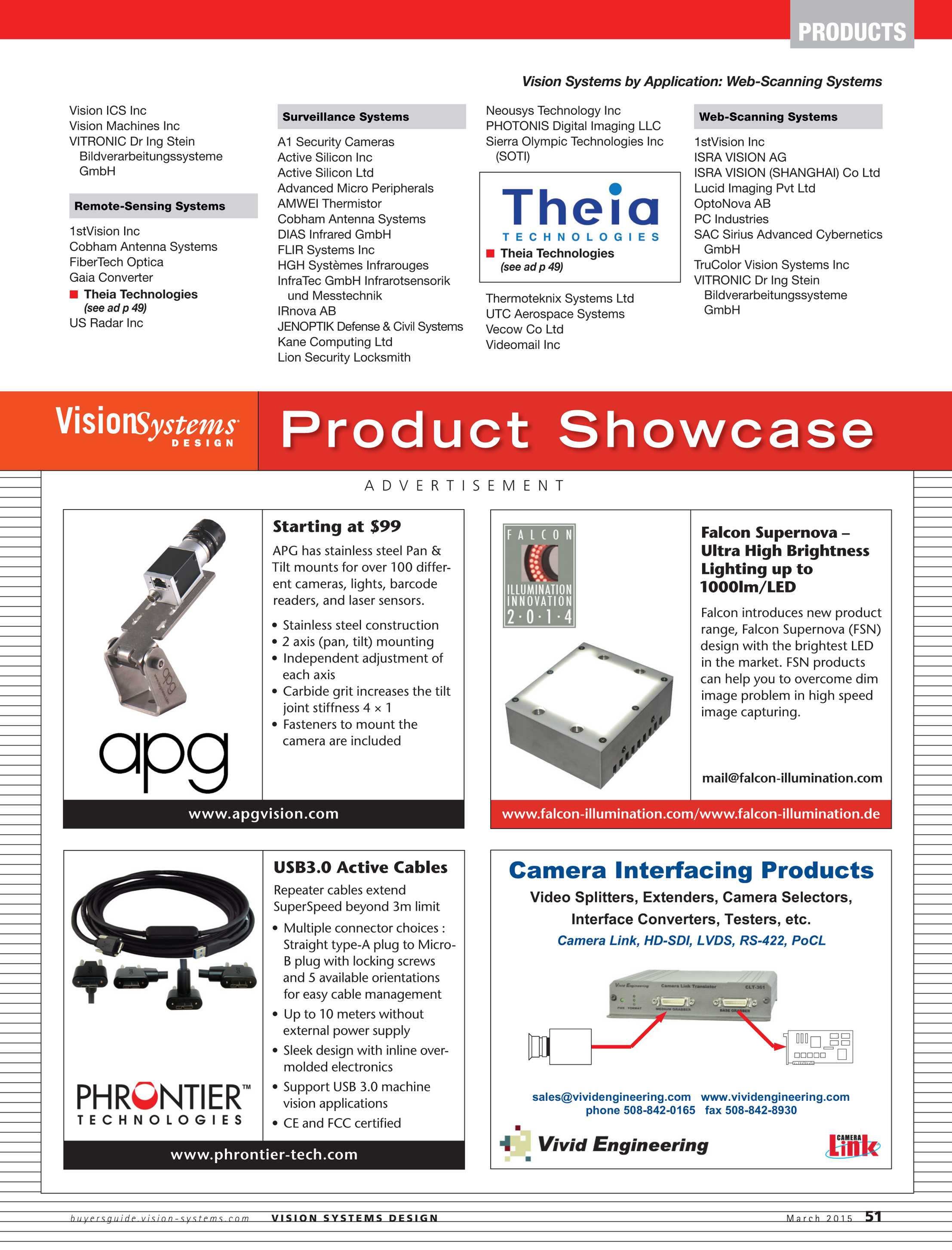 Vision Systems March 2015 Page 51