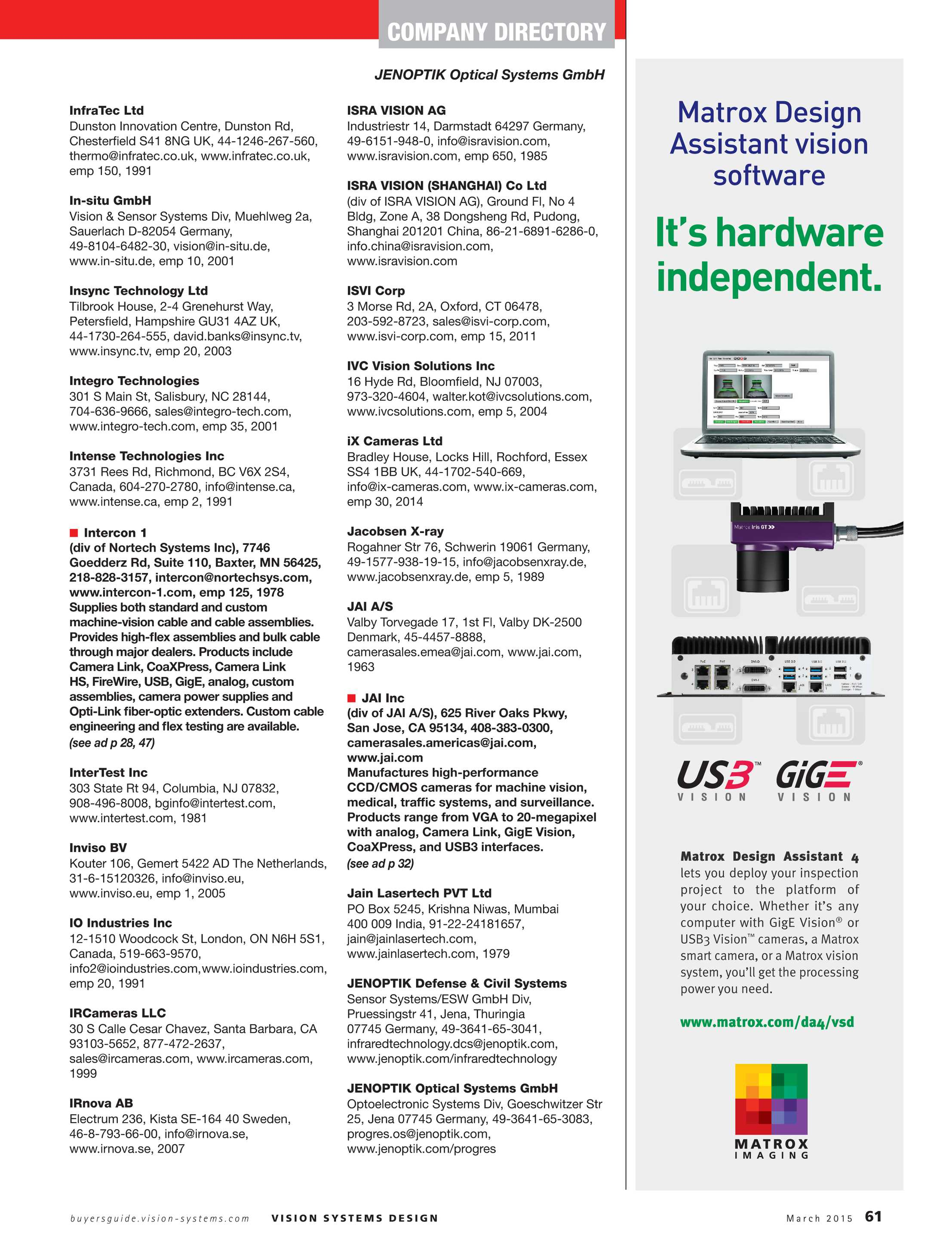 Vision Systems - March 2015 - page 61