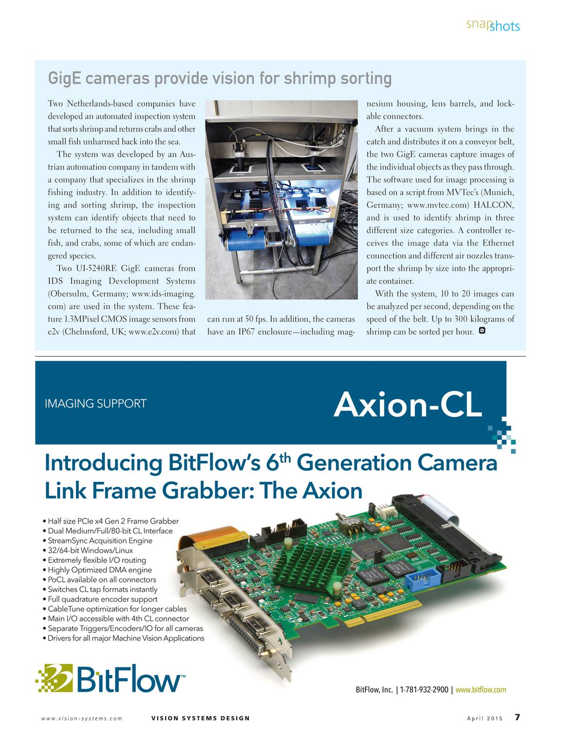 Vision Systems - April 2015 - page 6