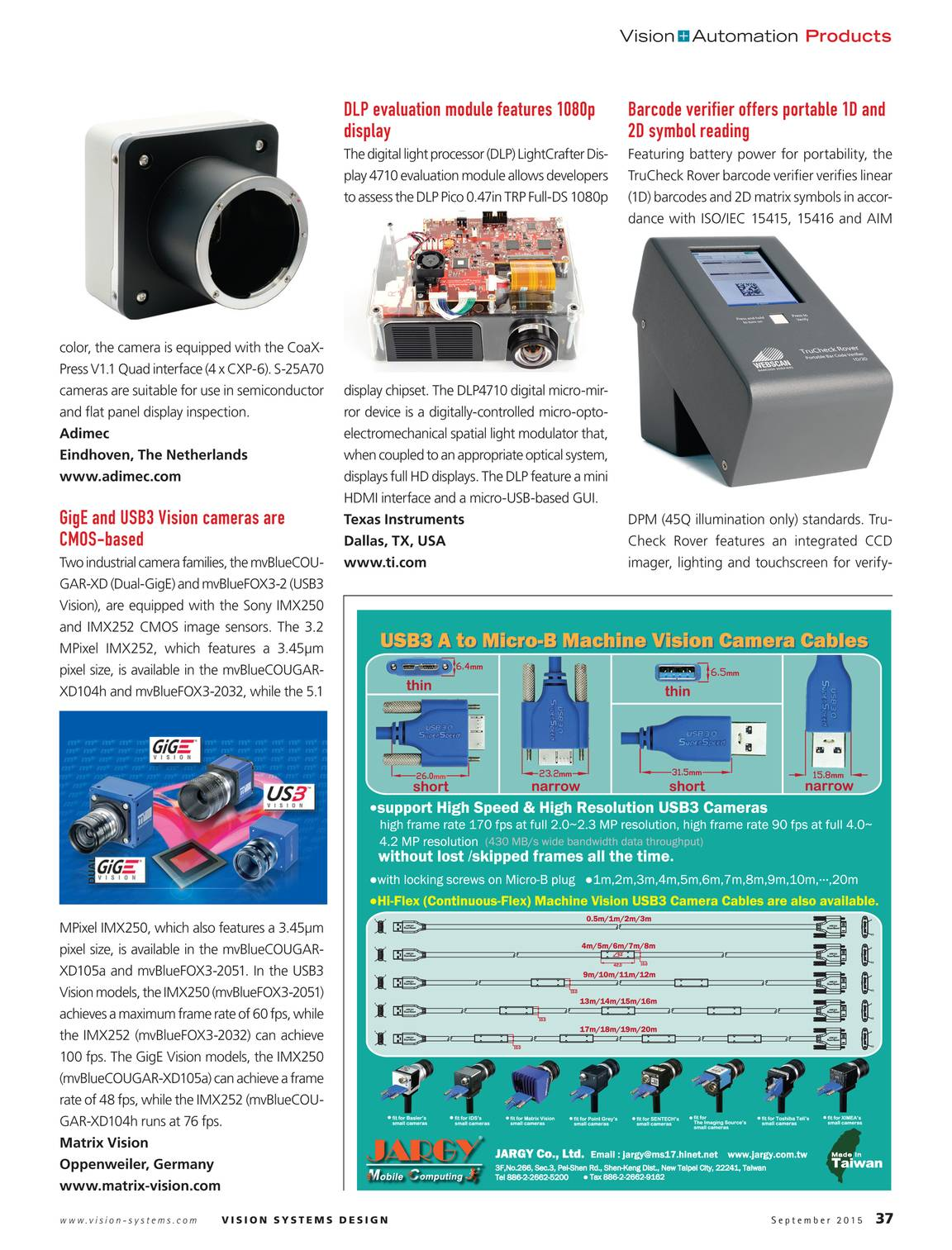 Vision Systems - September 2015 - page 38