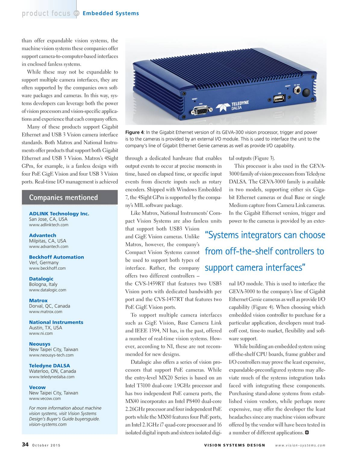 Vision Systems - October 2015 - page 34