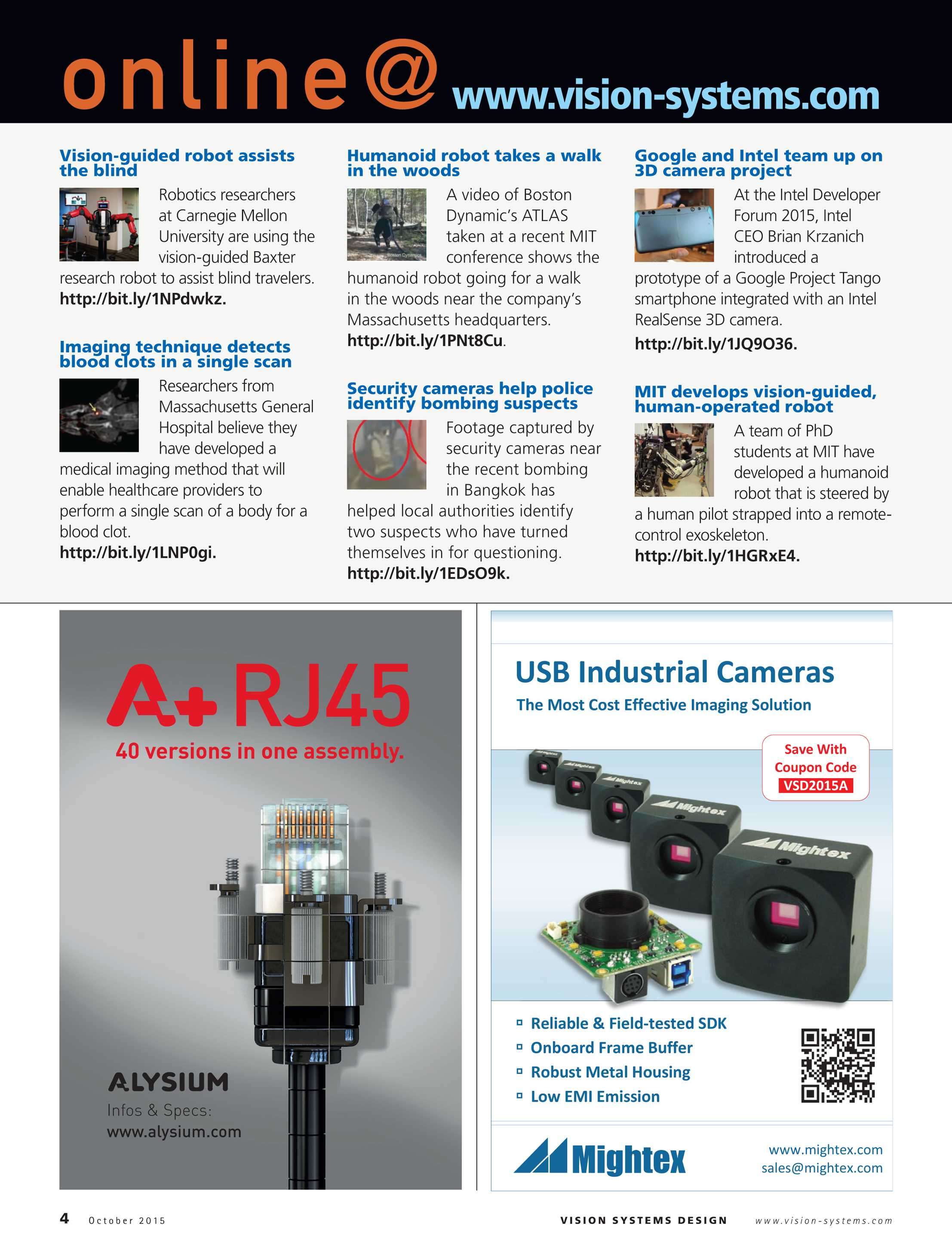 Vision Systems - October 2015 - page 4