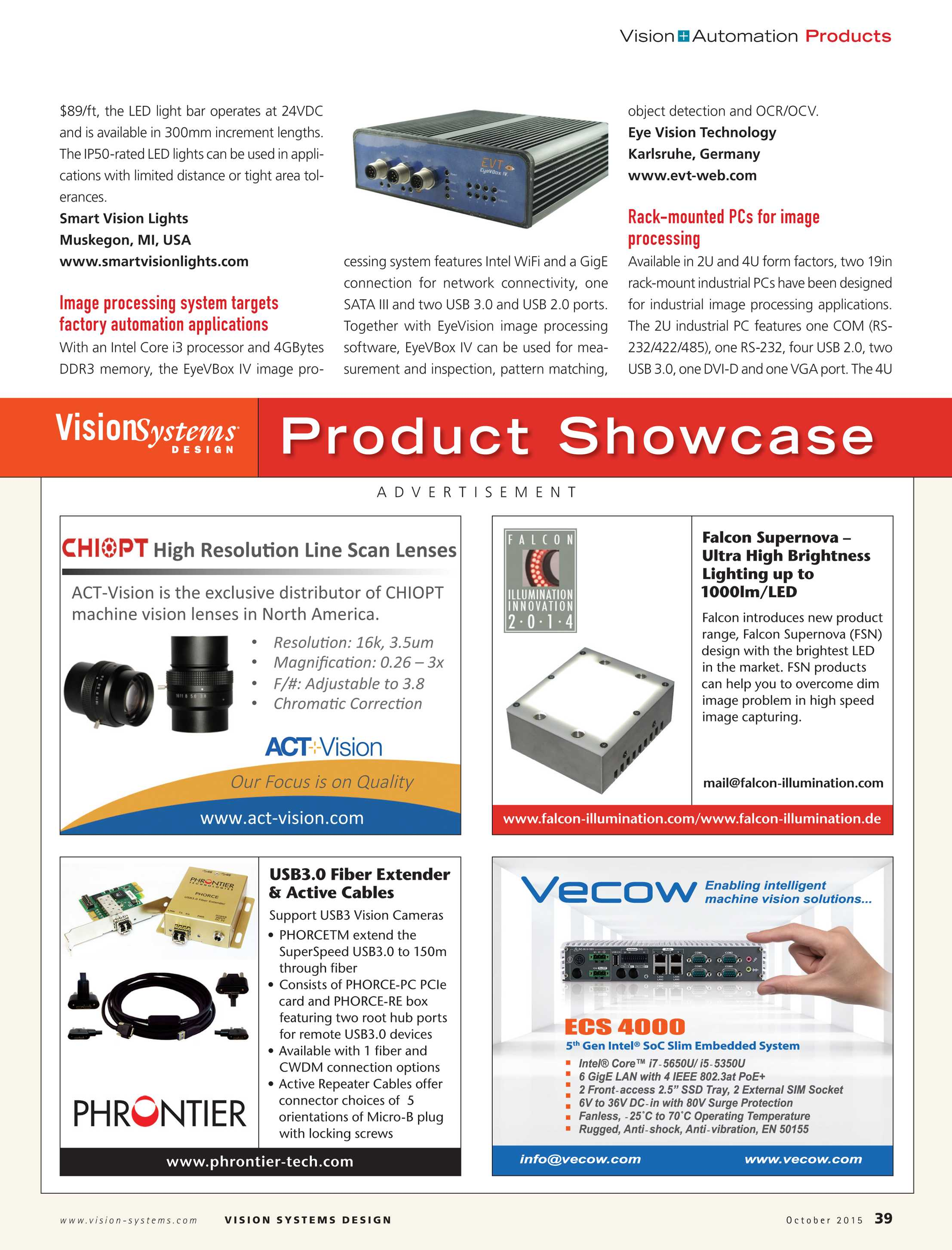 Vision Systems - October 2015 - page 39