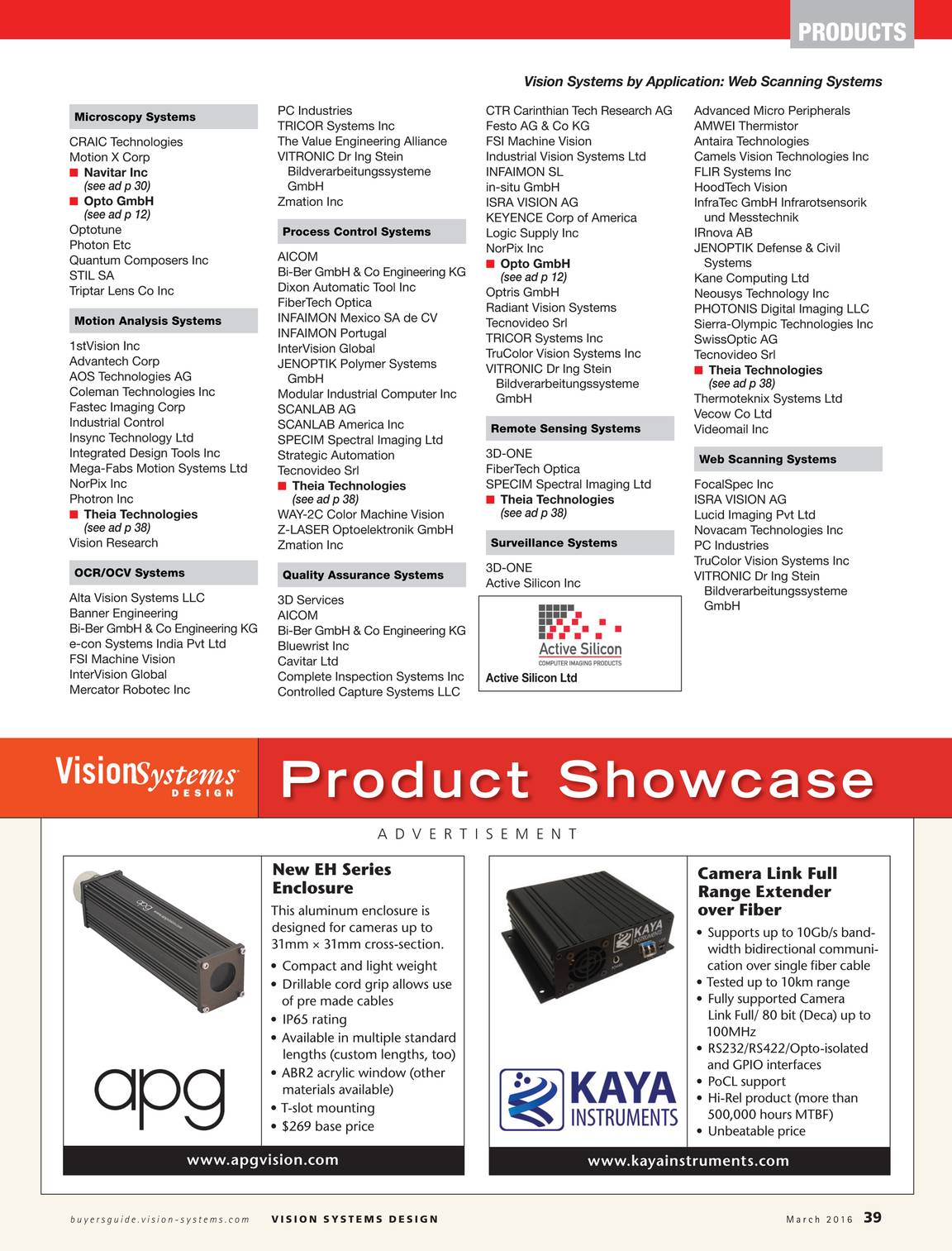 Vision Systems March 2016 Page 40